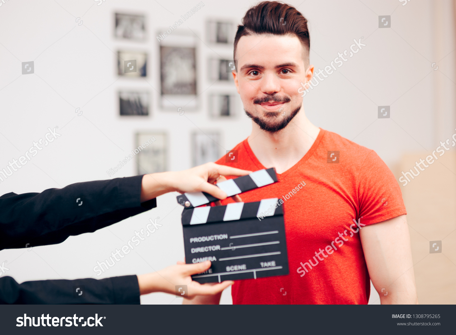 Male Actor Casting Agency Filming Demo Stock Photo (Edit Now) 1308795265