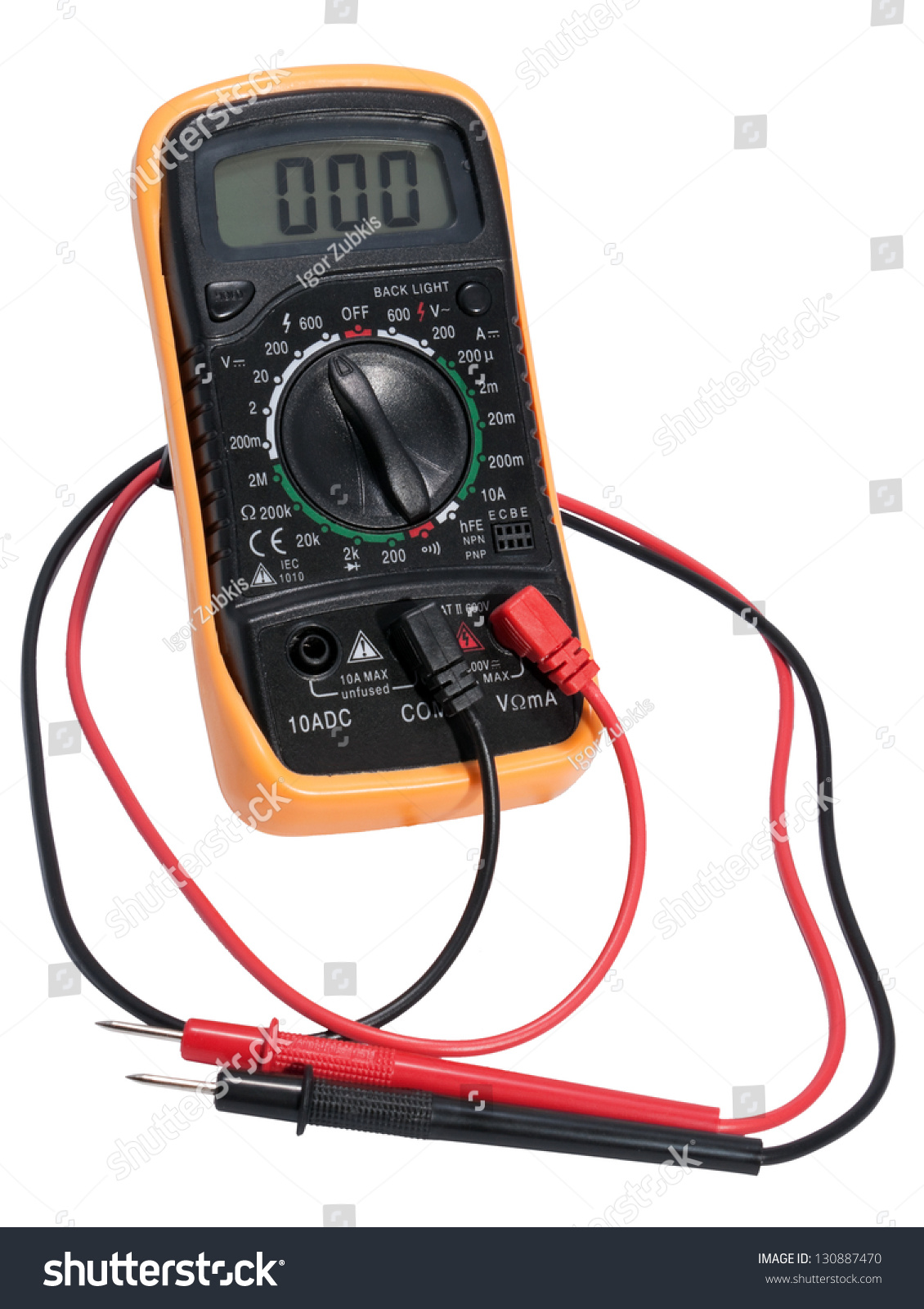 Use Electric Measuring Devices : Electric digital tester device measuring stock