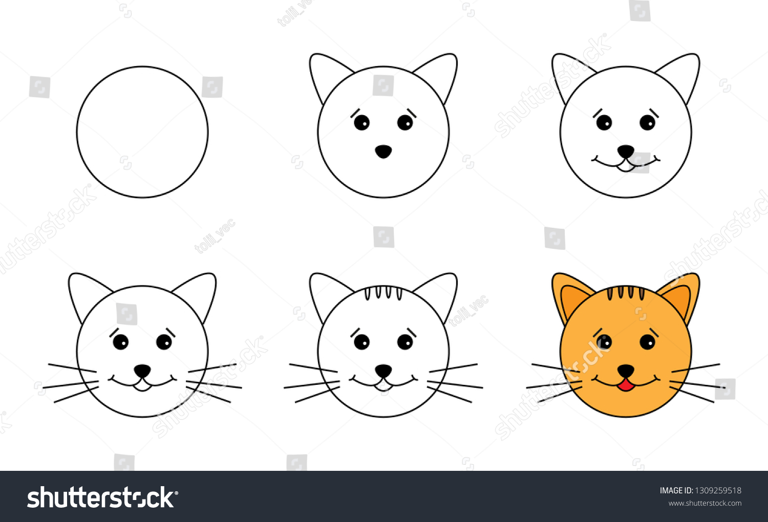 Featured image of post How To Draw A Cat Easy Step By Step For Kids As you can see we have quite a lot of steps