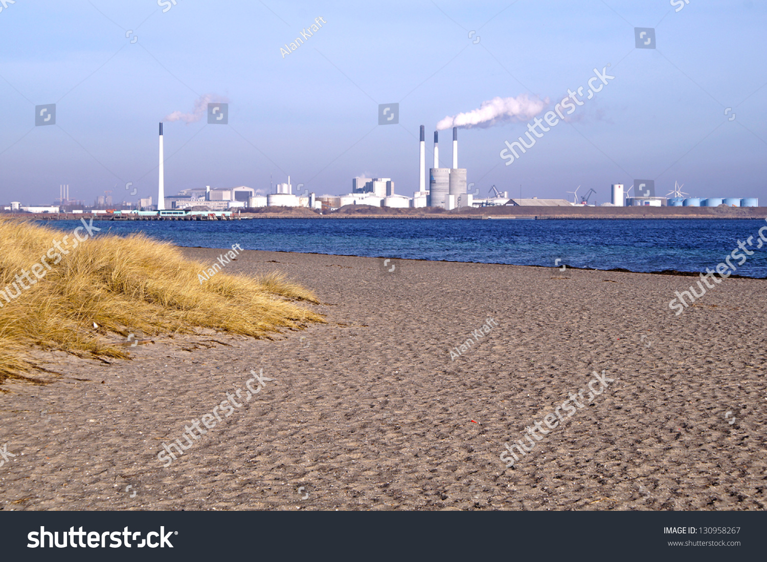Amager Beach Park amager beach park amager power station stock photo (edit now