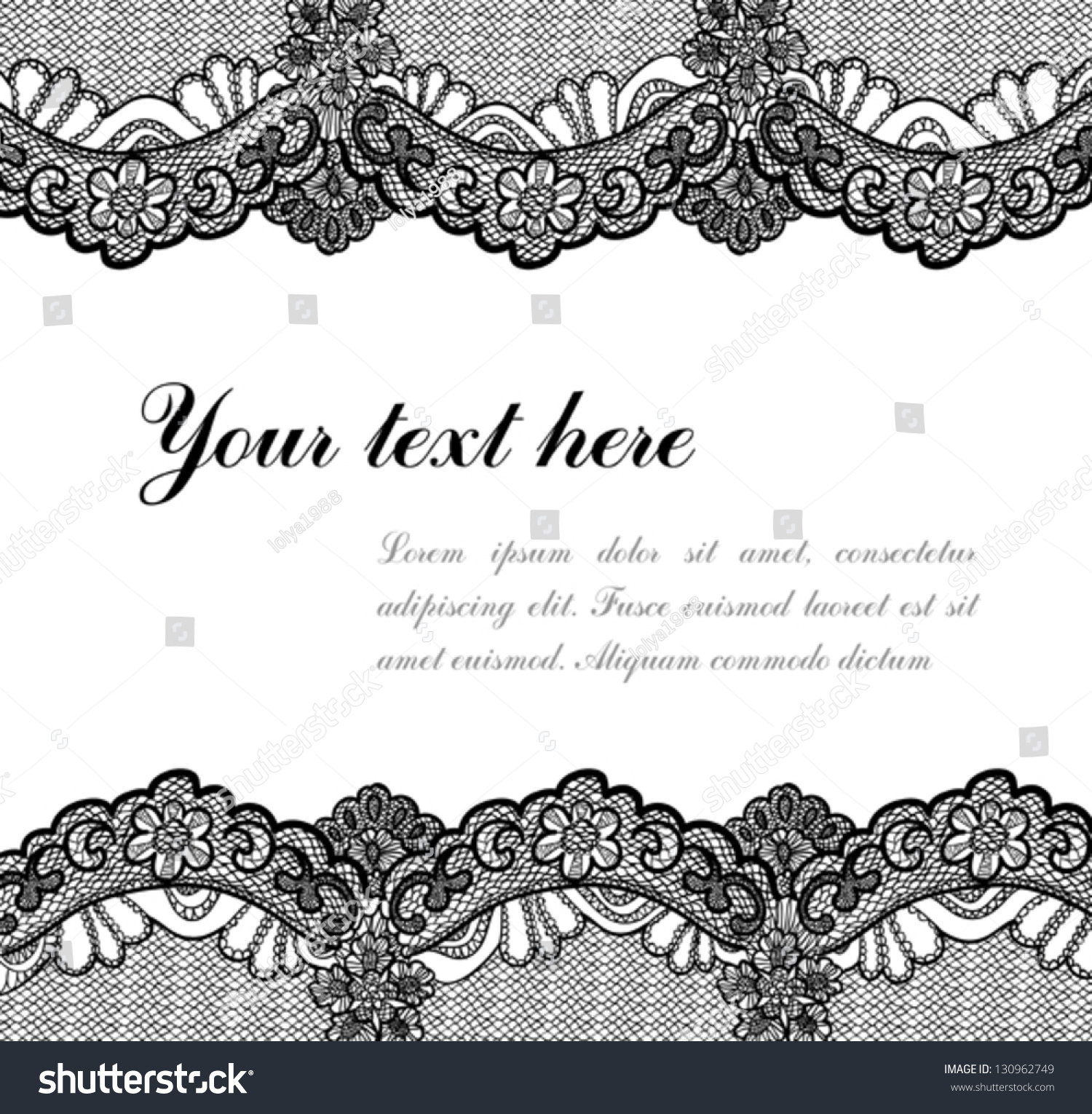 Black Lace Background Stock Vector Illustration 130962749 ...