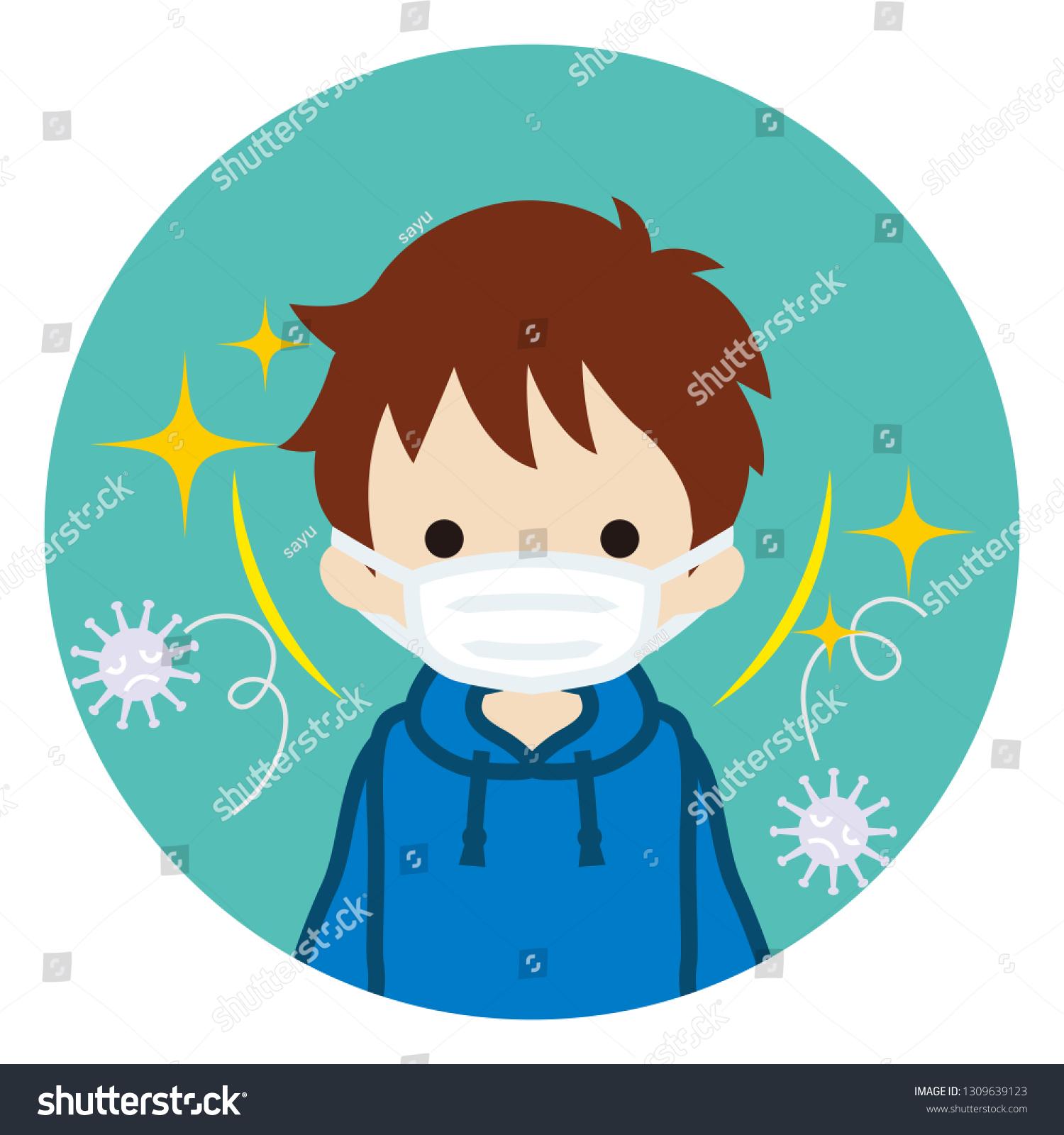 mask flu virus