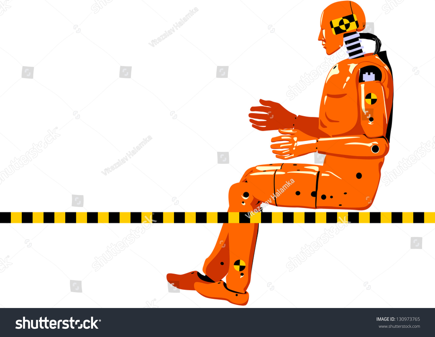 crash test dummy stock vector illustration 130973765