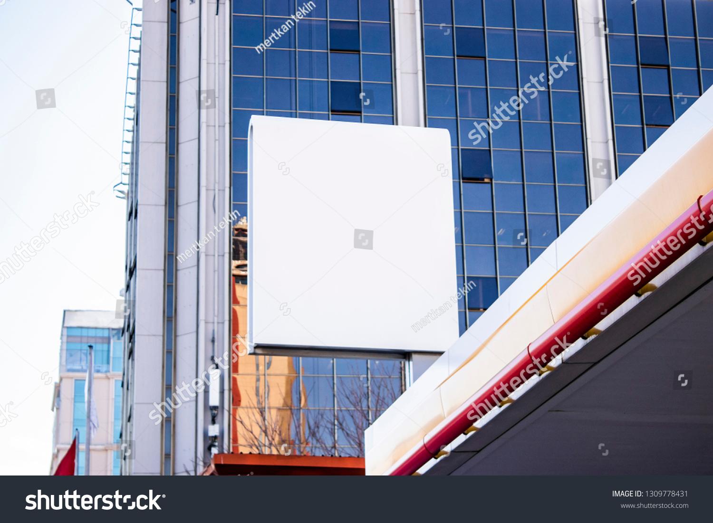 Singboard Mockup Template Blank Advertising Light Stock