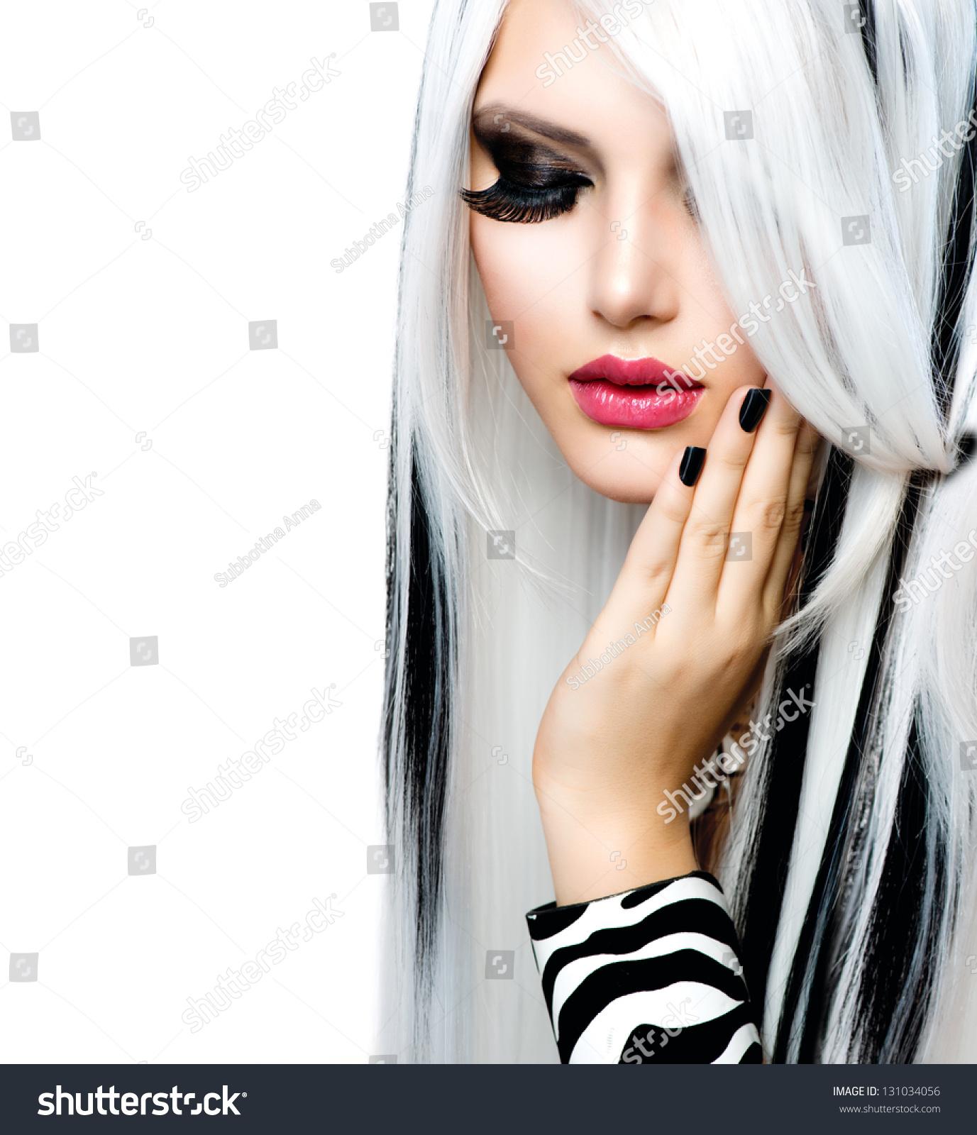 Beauty Fashion Girl Black White Style Stock Photo 131034056 Shutterstock