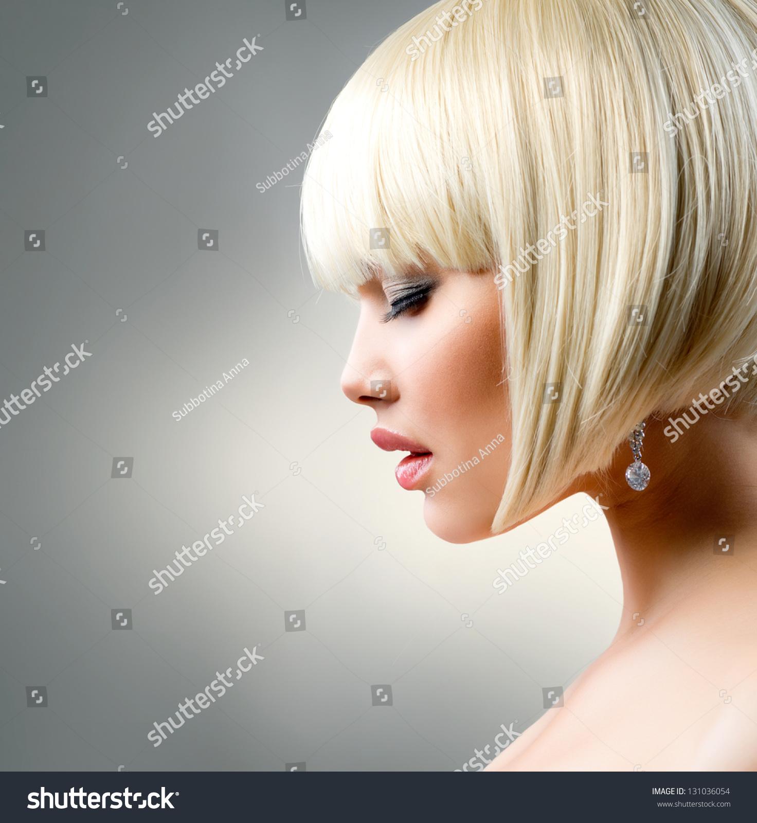 Blond Hair Haircut Beautiful Girl Healthy Stock Photo Edit Now