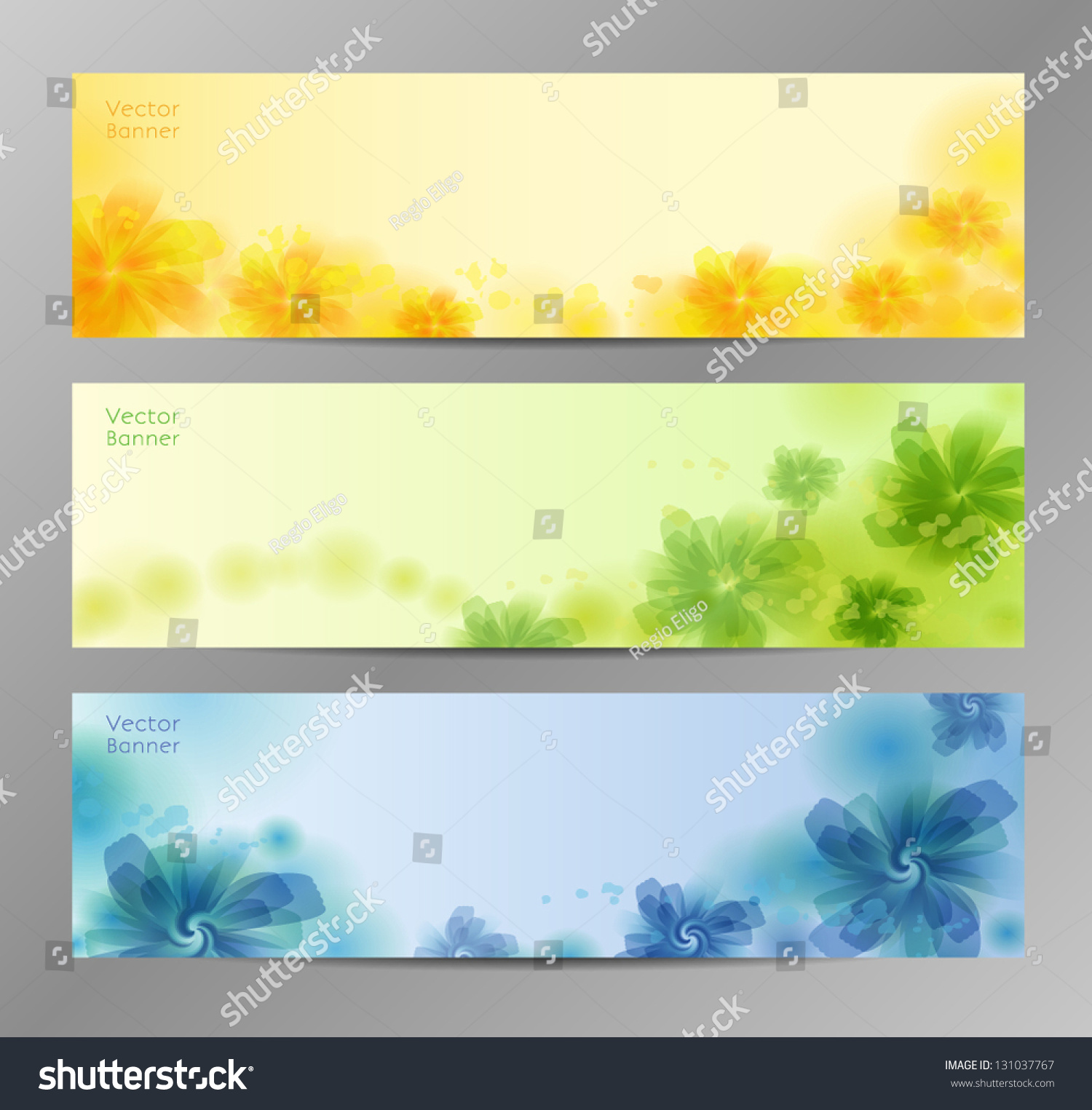 Abstract Flower Vector Background Brochure Template Stock