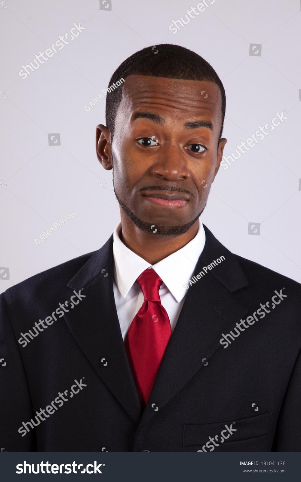 Handsome Black Businessman Suit Red Tie Stock Photo Edit Now