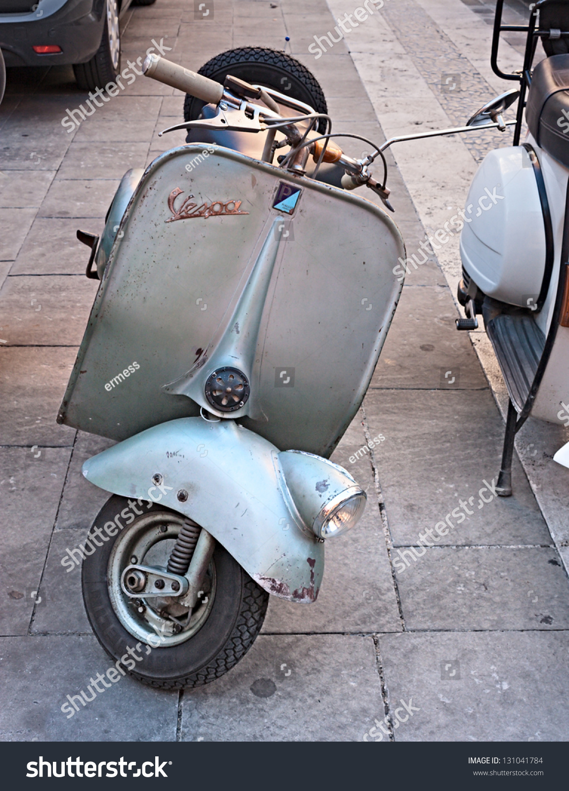 imola bo italy october 8 vintage italian scooter exposed by the vespa club imola at old. Black Bedroom Furniture Sets. Home Design Ideas