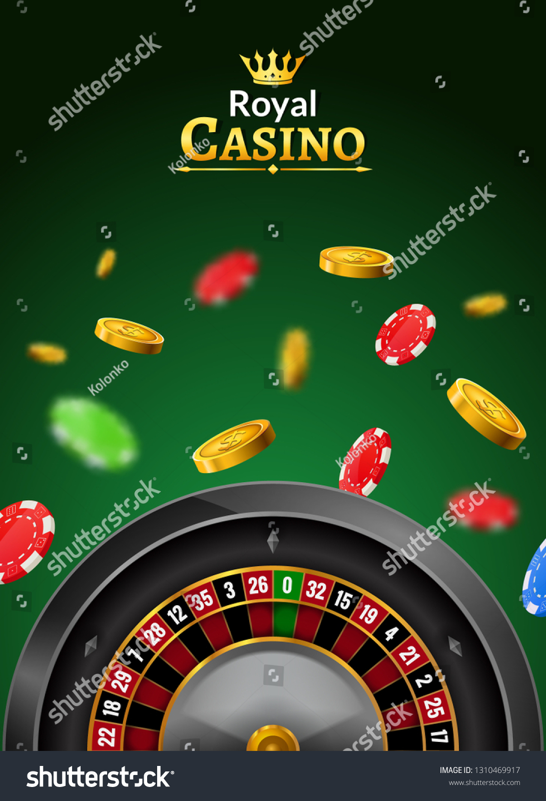 Casino Roulette Vector Wheel Poker Backgorund Stock Vector Royalty Free 1310469917