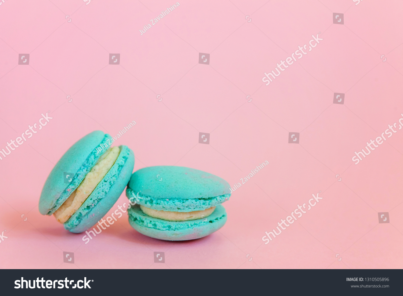 Sweet Almond Colorful Unicorn Blue Macaron Stock Photo Edit Now 1310505896