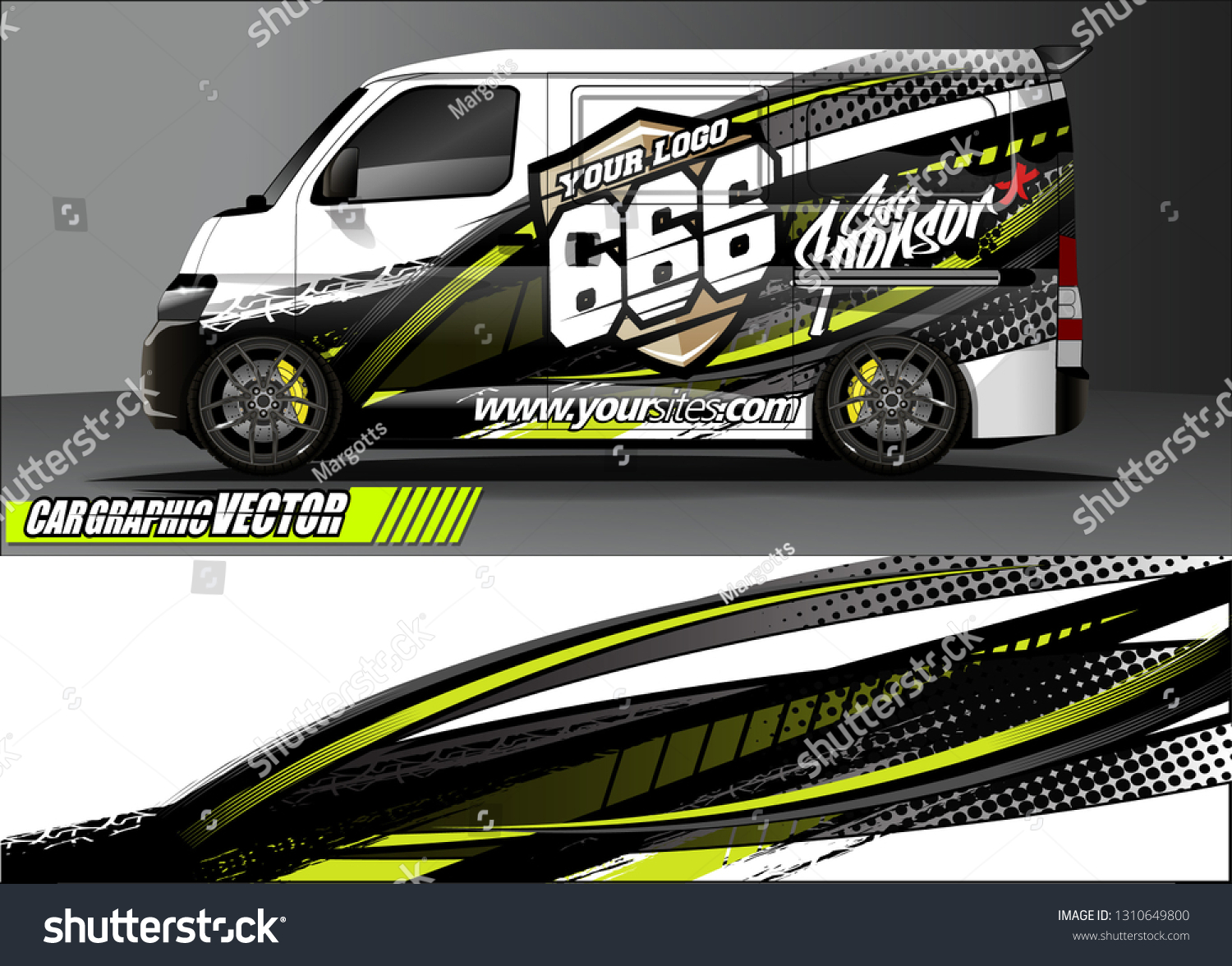Van sticker decal design simple lines with abstract background vector concept for vehicle vinyl wrap