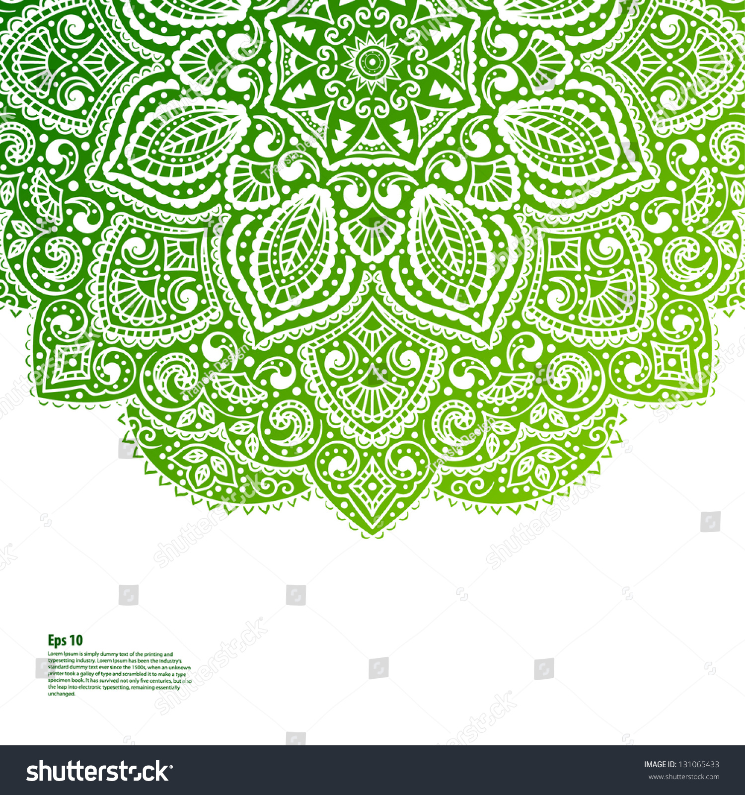 beautiful green ornament stock vector royalty free 131065433 https www shutterstock com image vector beautiful green ornament 131065433