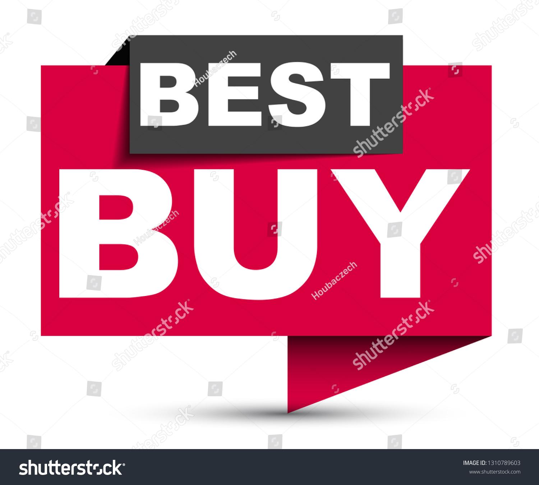 Red Vector Banner Best Buy Stock Vector Royalty Free 1310789603