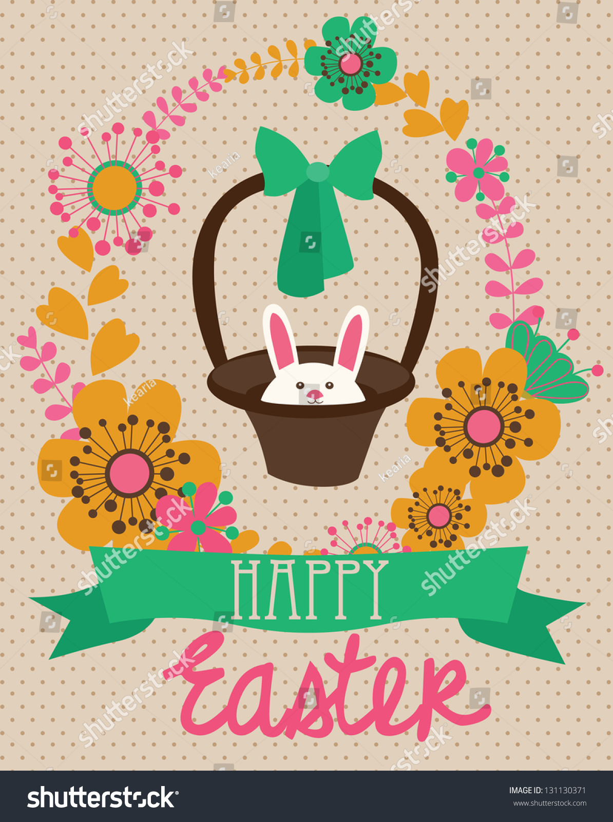 Happy Easter Cards Illustration Easter Eggs Vector 131130371 – Happy Easter Card