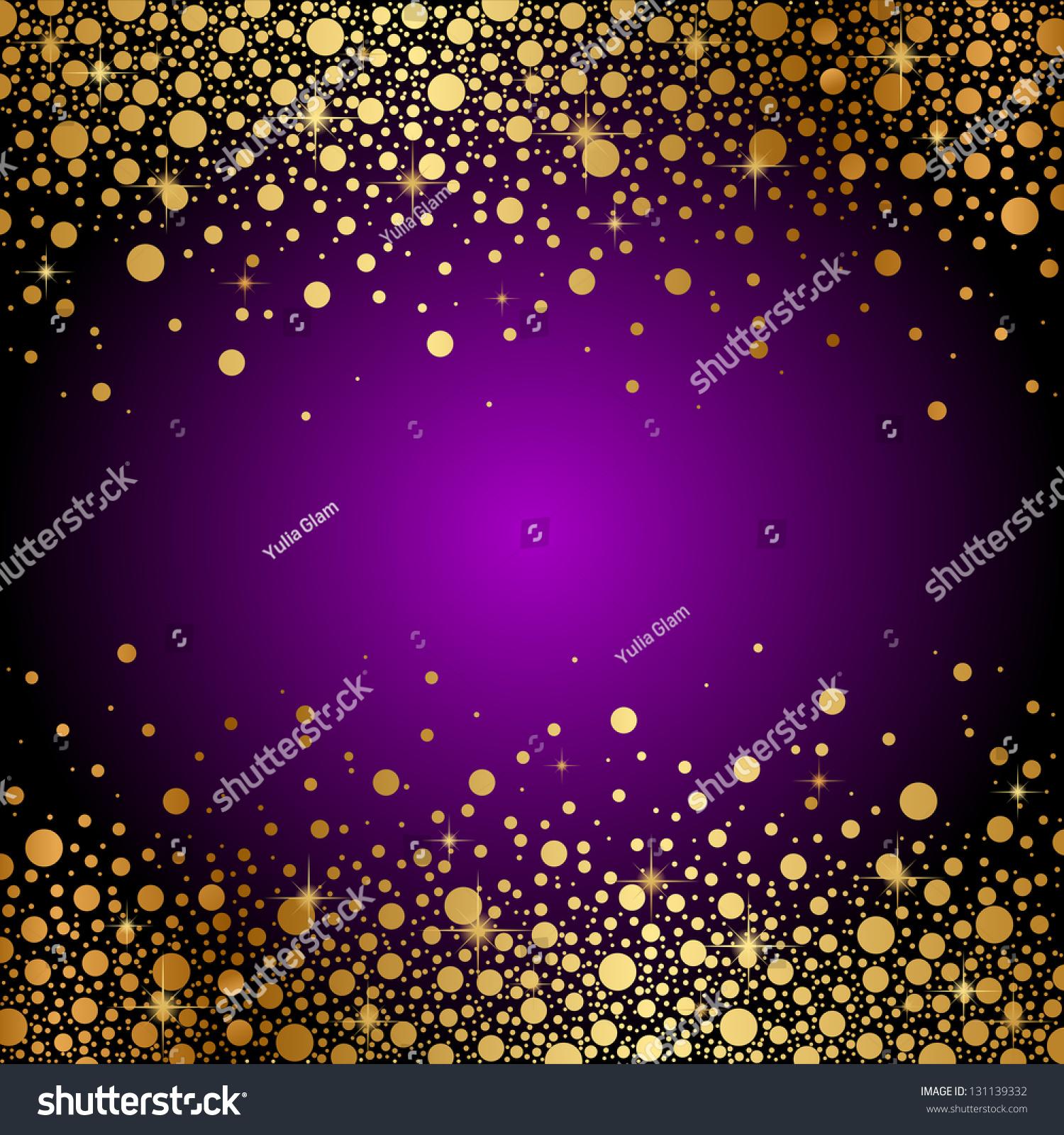 Vector Purple Gold Luxury Background Stock Vector ...
