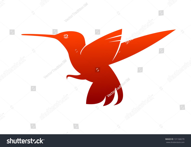 Flying Hummingbird Logo Template Jpeg Bitmap Stock Vector Royalty