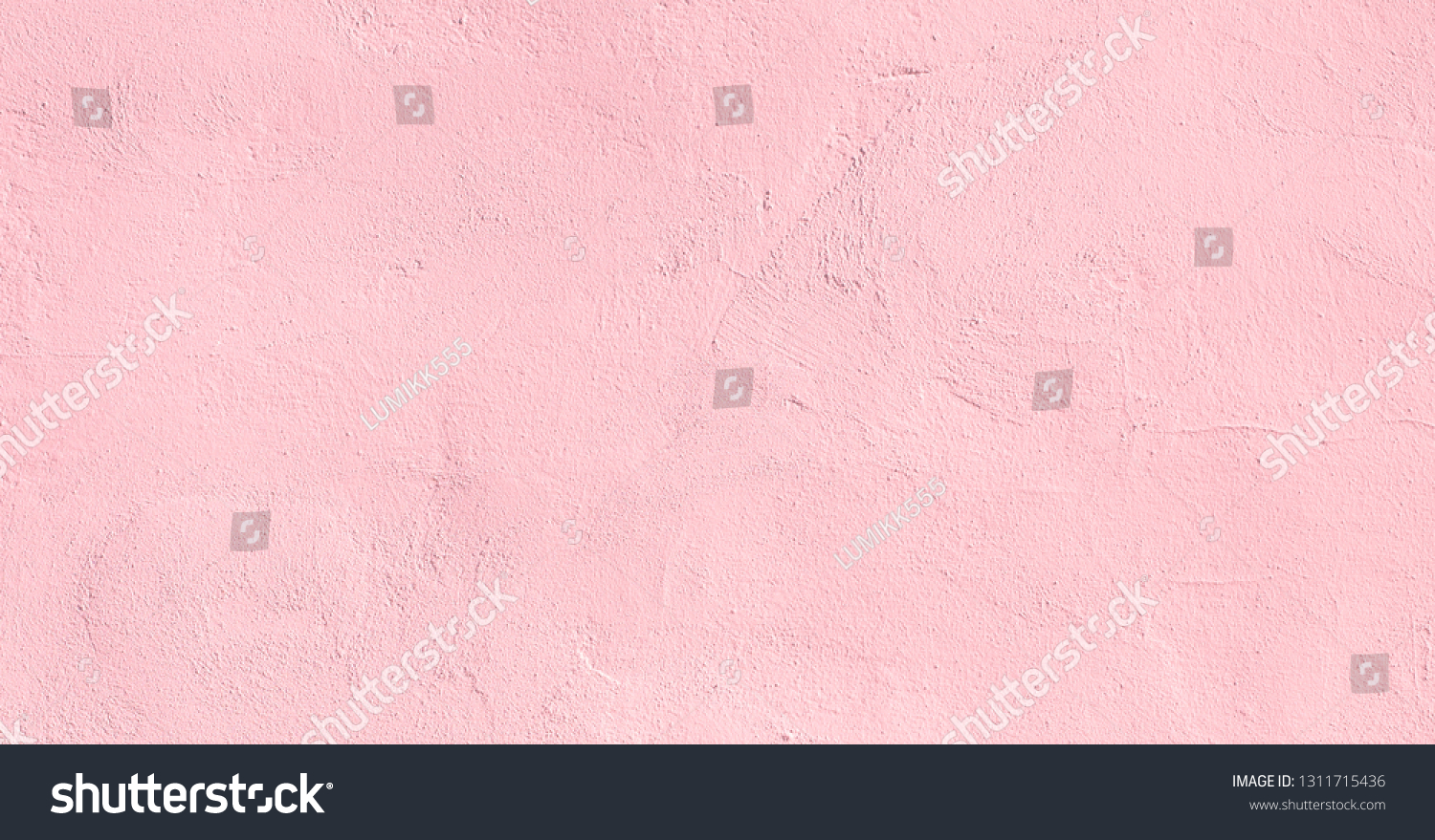 Vintage light pink plaster Wall Texture. Pastel Background. Abstract Painted Wall Surface. Stucco Background With Copy Space For design #1311715436