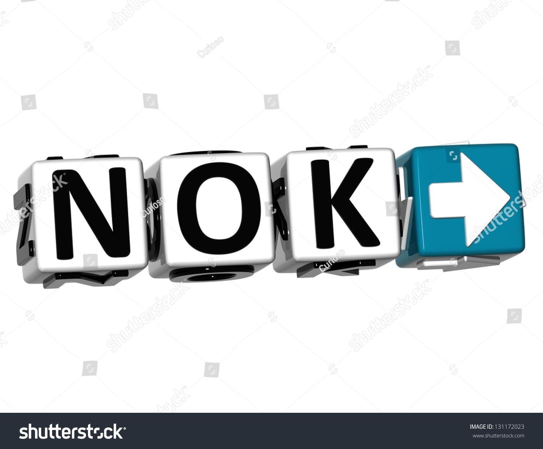 3 D Norwegian Krone Currency Nok Button Stock Illustration 131172023