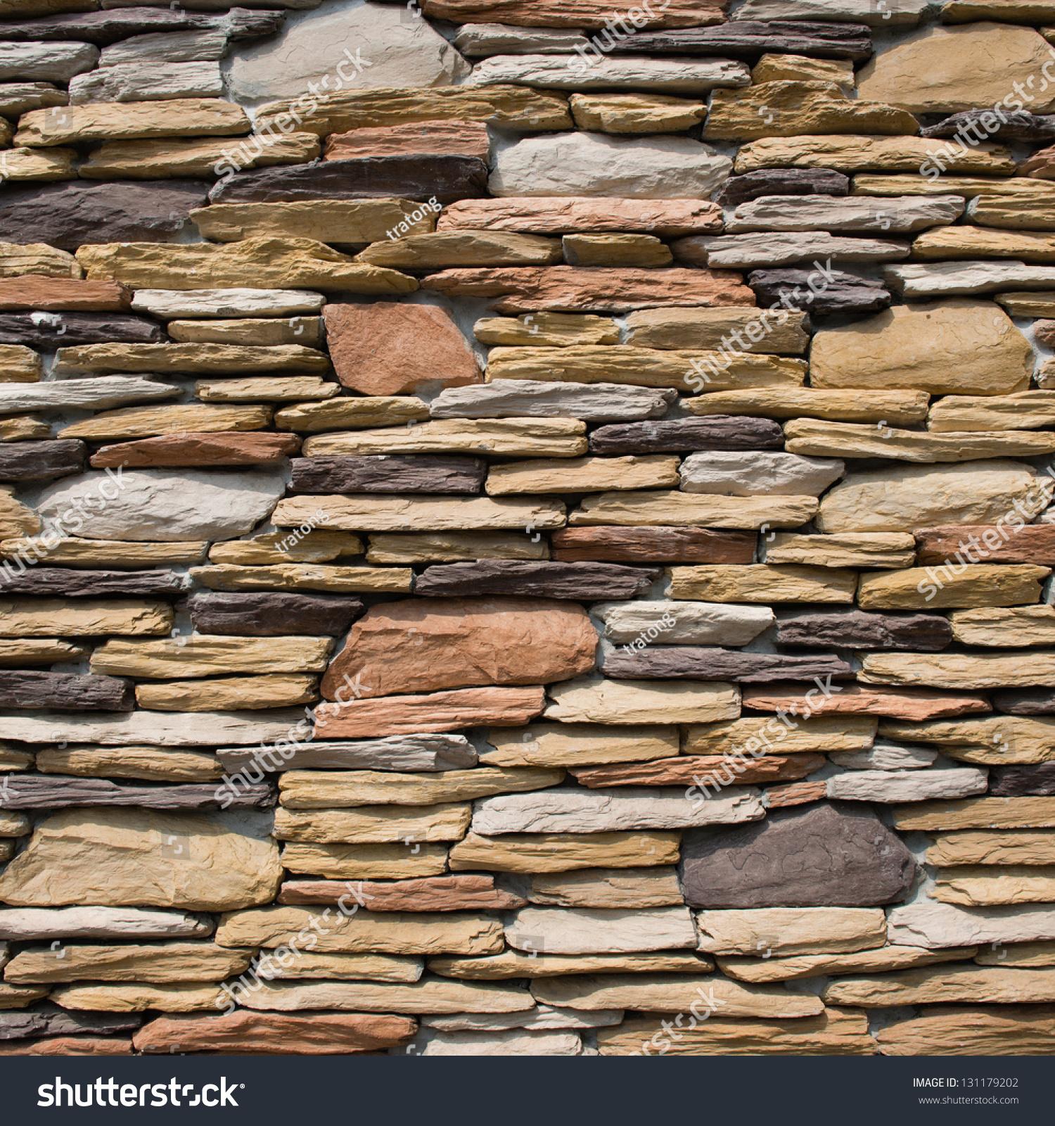 Decorative Wall Stone : Pattern of decorative slate stone wall surface stock photo