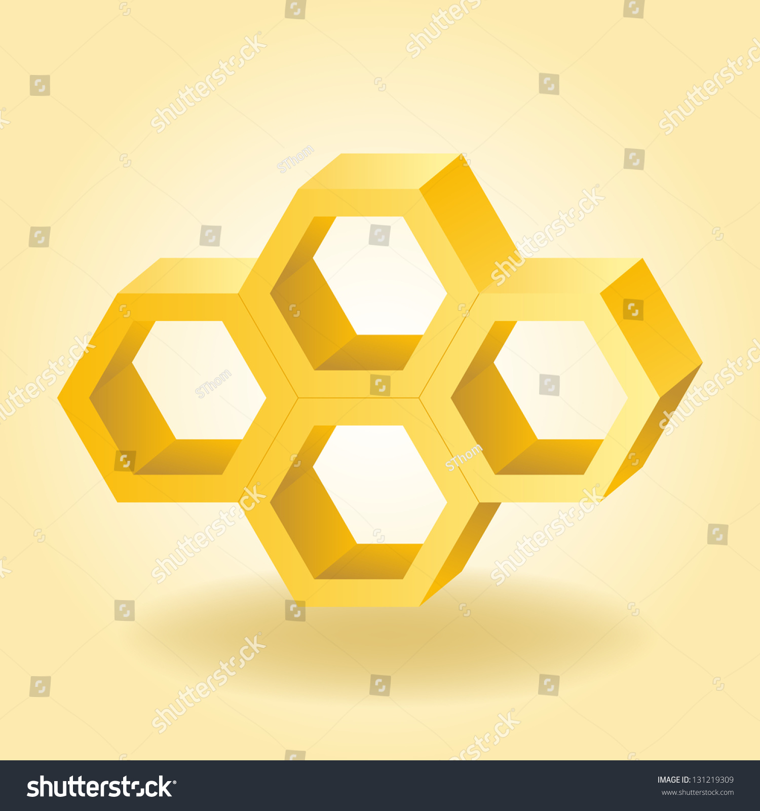 Abstract 3d Honeycomb Background Vector Illustration Stock