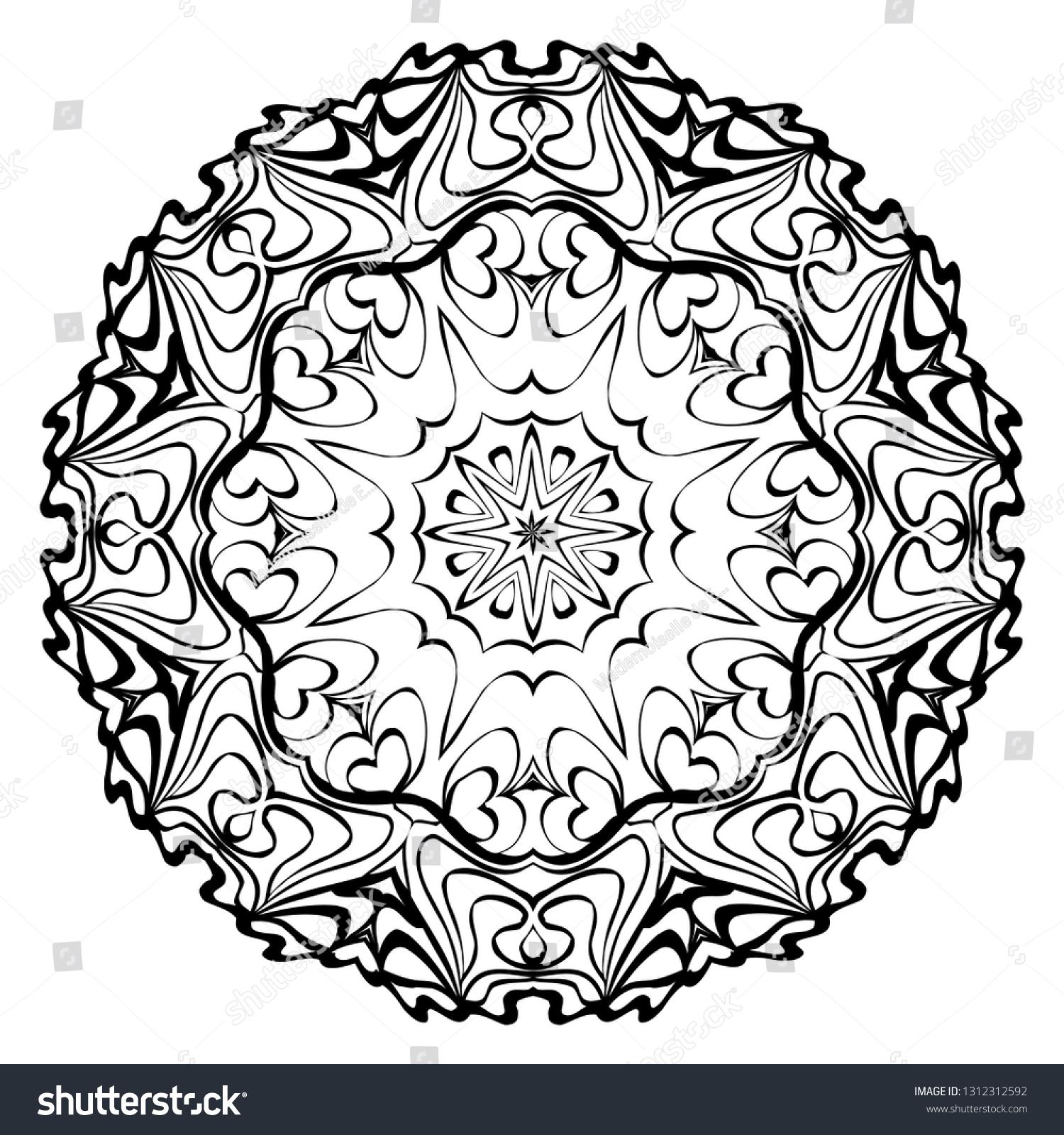 Decorative Ornament Mandala Home Decor Background Stock