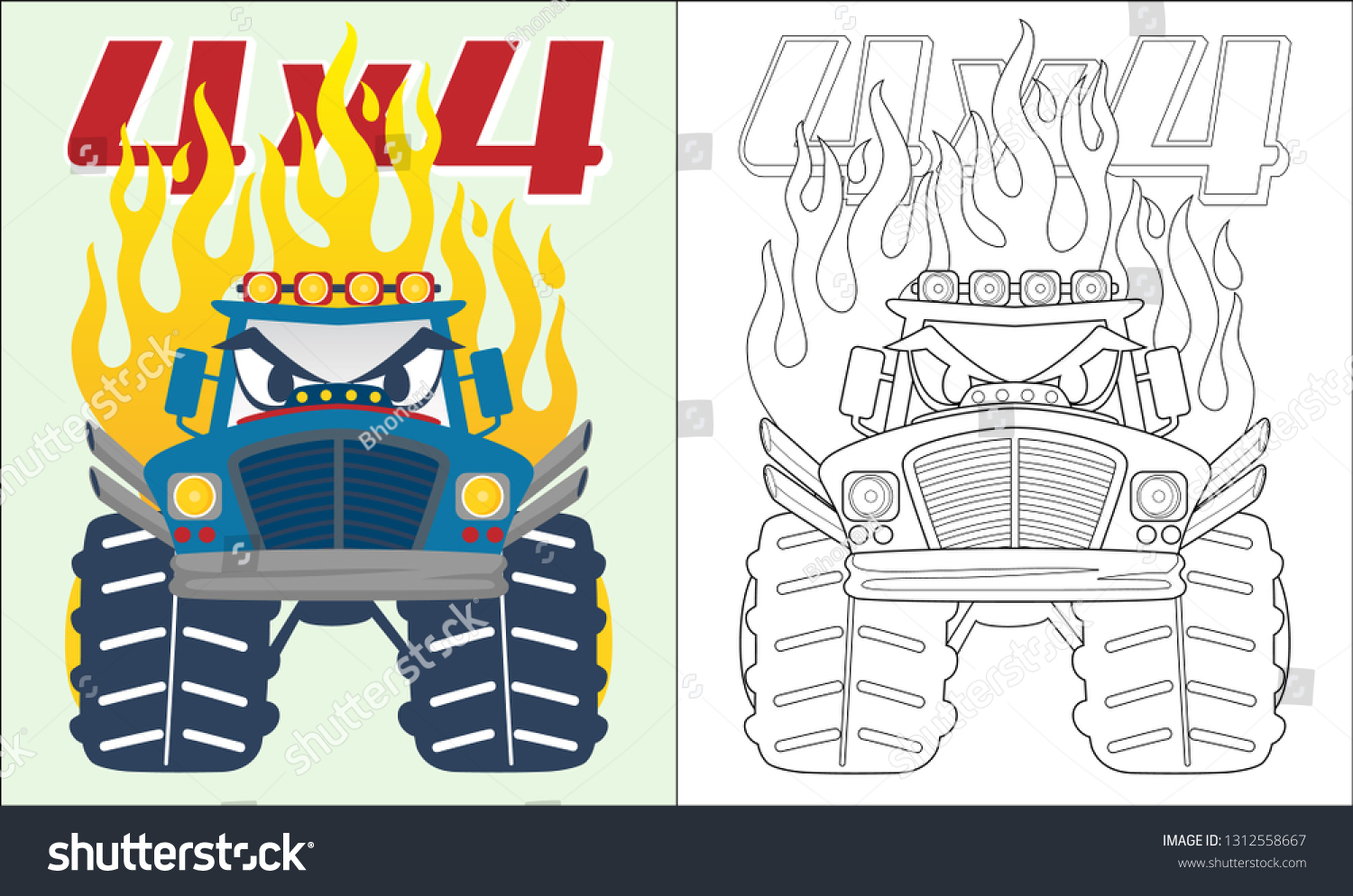 Monster Truck Coloring Pages for Kids | Coloring Books for Kids ... | 994x1500
