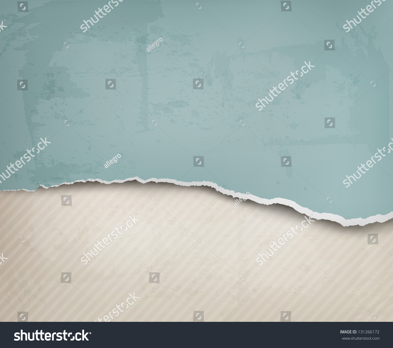 Ripped Old Paper: Vintage Background With Ripped Old Paper. Vector