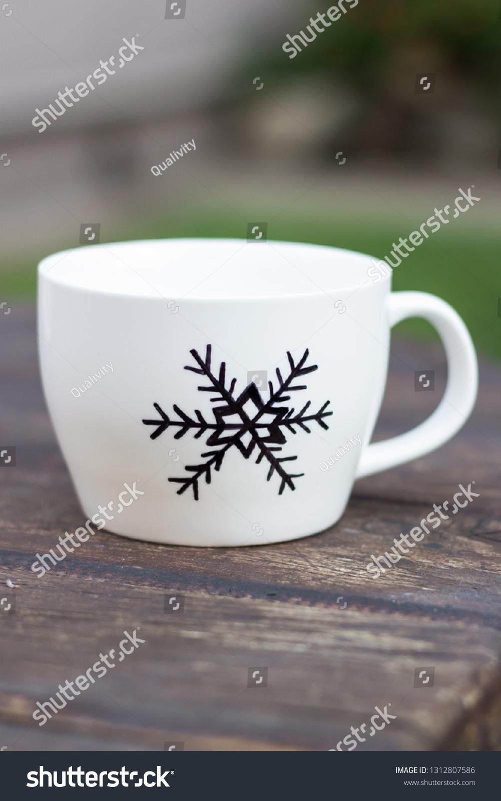 White Ceramic Sharpie Mug Permanent Marker Stock Photo Edit Now 1312807586