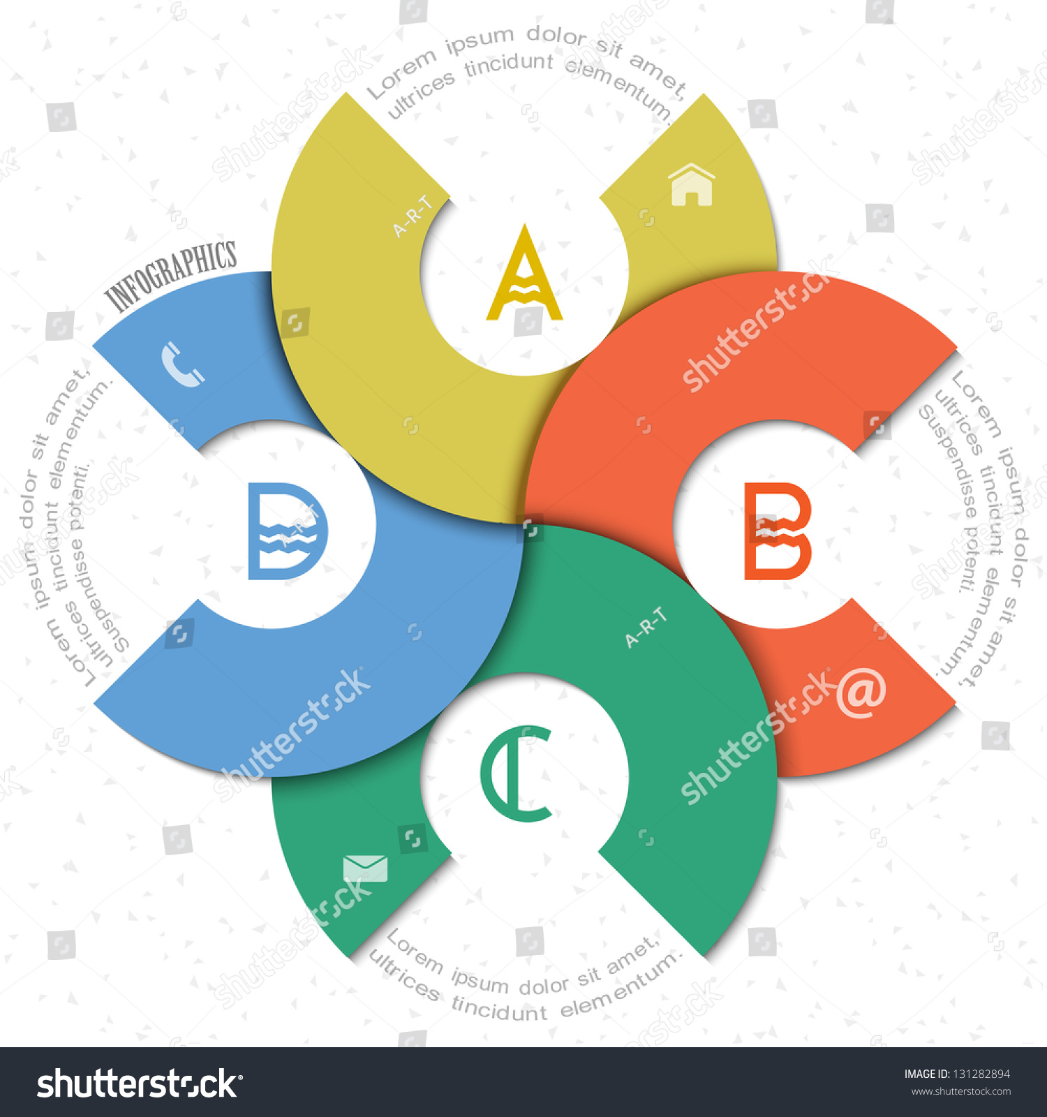 creative round design template infographics website stock vector creative round design template for infographics and website templates or design graphic for business vector