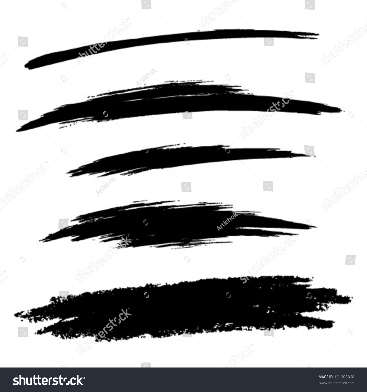 Line Art Brush By Jimro : Set hand drawn grunge brush lines stock vector