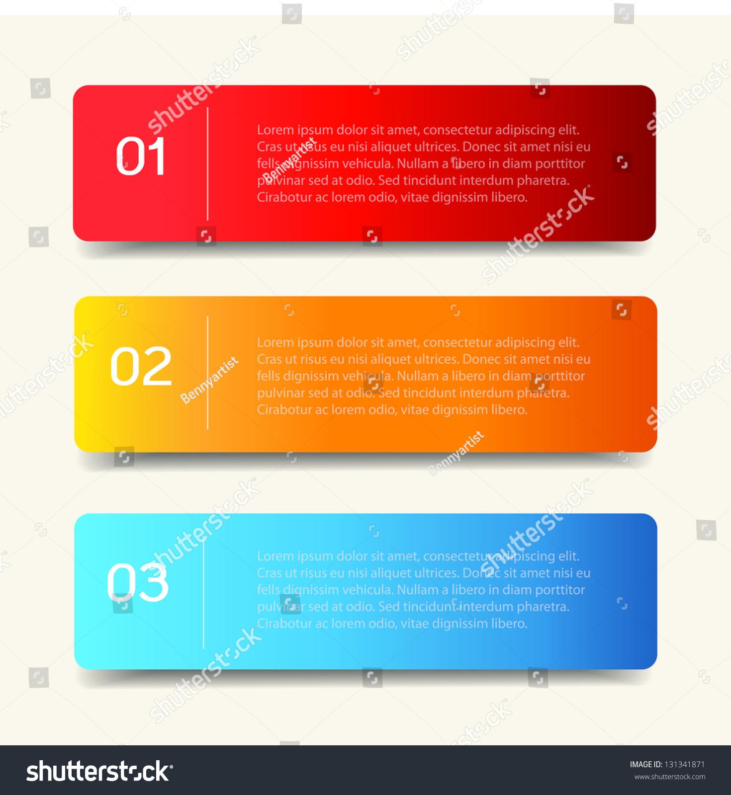 Vector Paper Lines Numbers Design Template Vector 131341871 – Paper Design Template