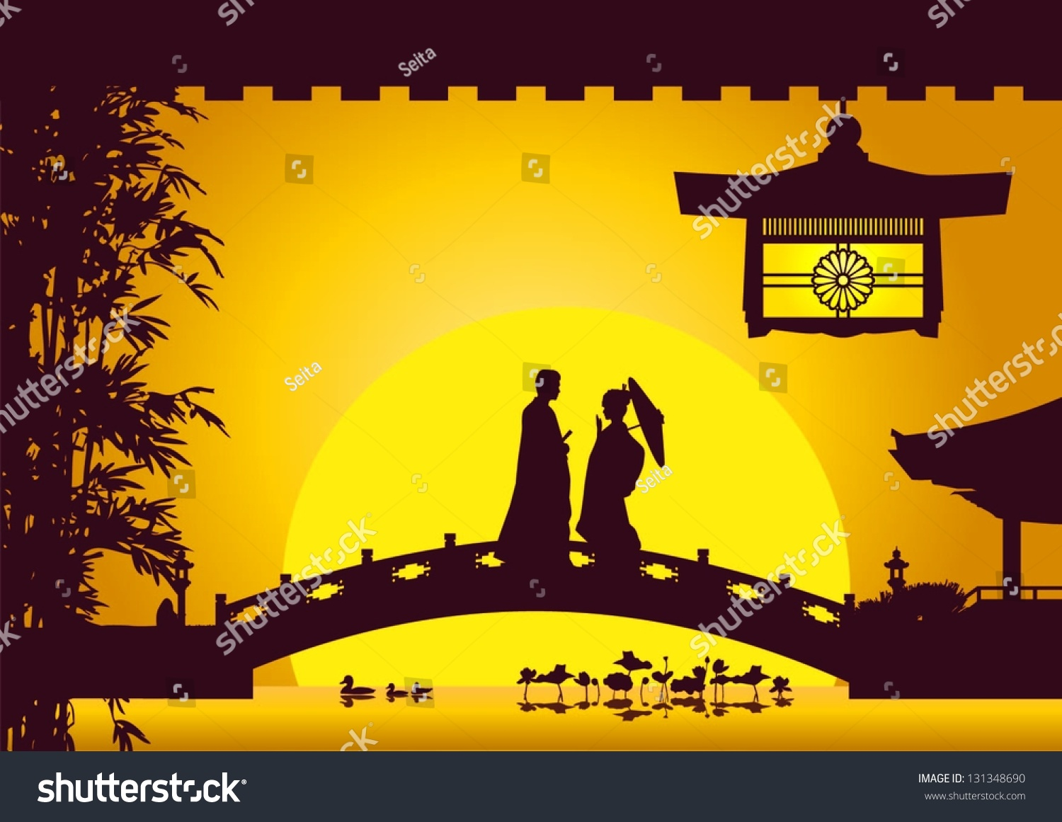 Splendid Illustration Japanese Bride Groom Dating On Stock Vector   With Exquisite Illustration Of Japanese Bride And Groom Dating On The Bridge In Japan  Garden Vector With Beautiful Gardens With Railway Sleepers Also Swiss Garden Residences Kuala Lumpur In Addition Garden Gift Sets And Garden Bucket As Well As  Piece Garden Furniture Set Additionally Olive Garden Free From Shutterstockcom With   Exquisite Illustration Japanese Bride Groom Dating On Stock Vector   With Beautiful Illustration Of Japanese Bride And Groom Dating On The Bridge In Japan  Garden Vector And Splendid Gardens With Railway Sleepers Also Swiss Garden Residences Kuala Lumpur In Addition Garden Gift Sets From Shutterstockcom