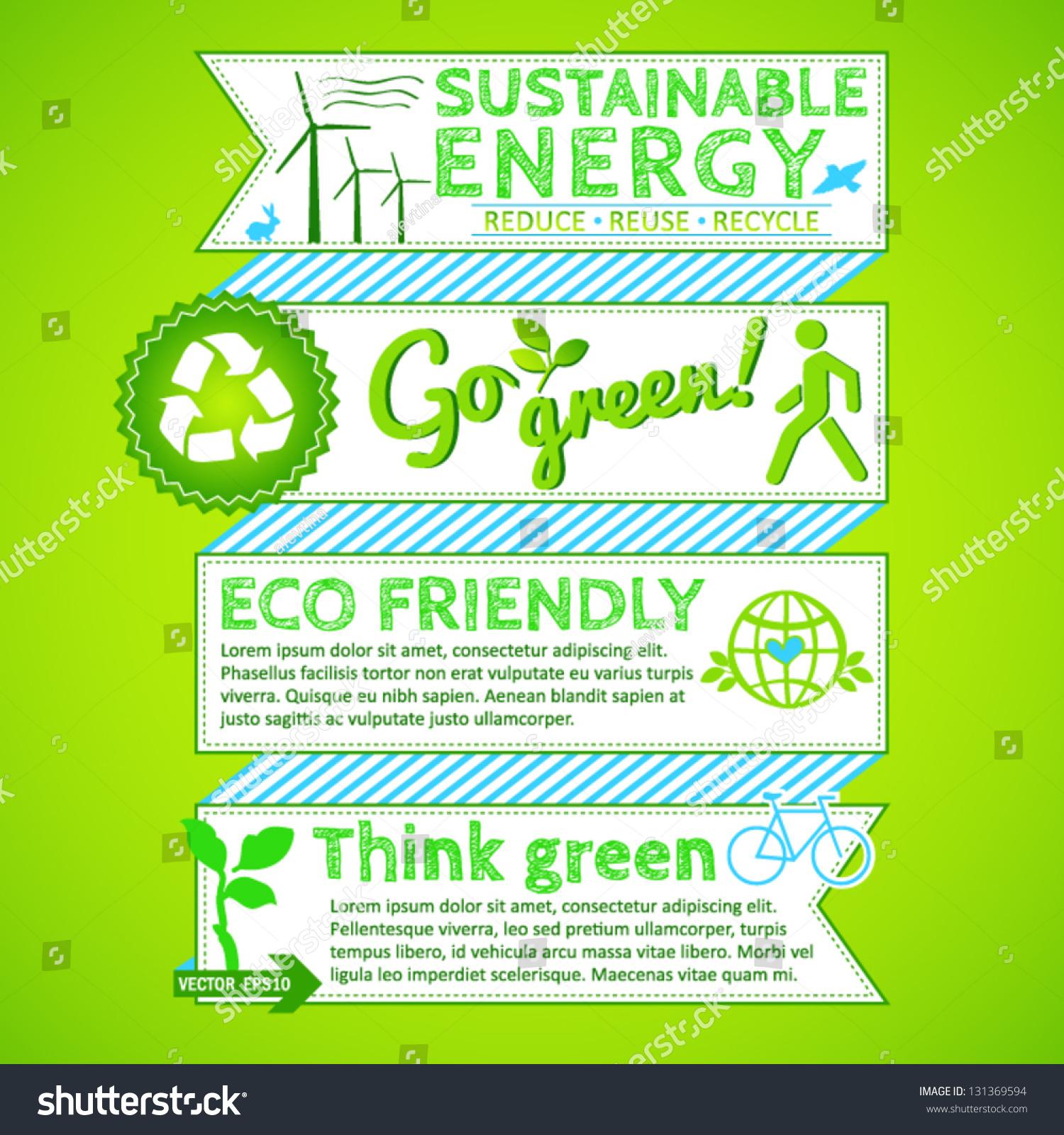 Go Green Poster Stock Vector 131369594 Shutterstock