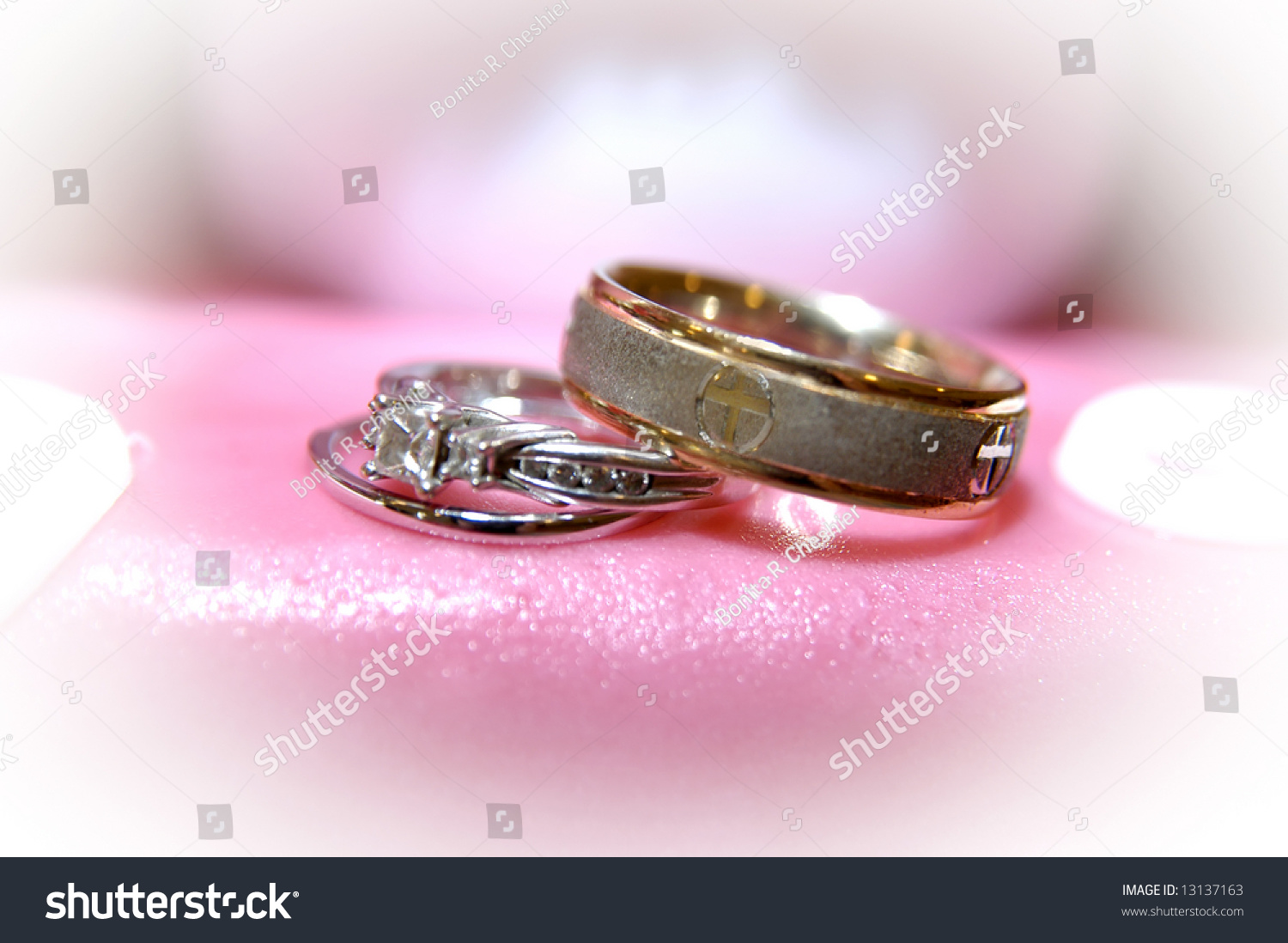 Antique Gold Wedding Band Sits On Stock Photo (Edit Now) 13137163 ...