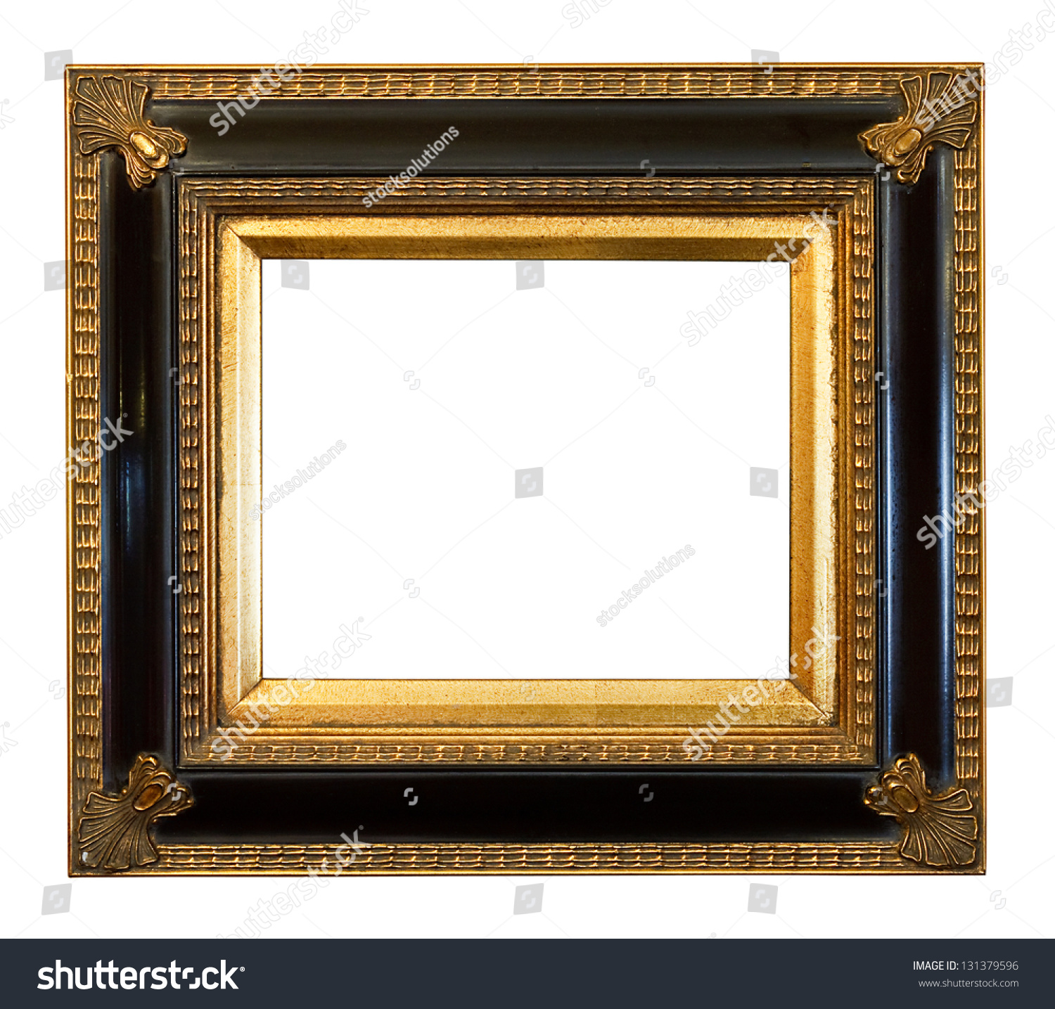 Thick Antique Gold Gilded Picture Frame Stock Photo (Edit Now ...