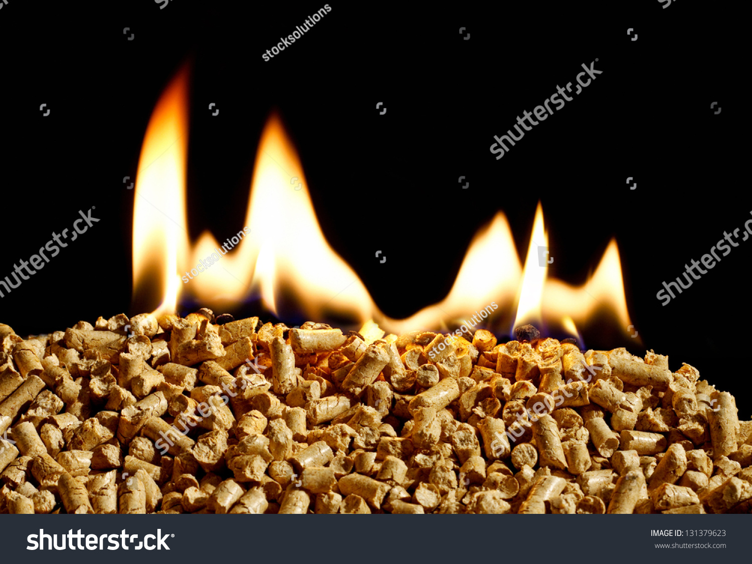 Burning wood chip pellets a renewable source of energy