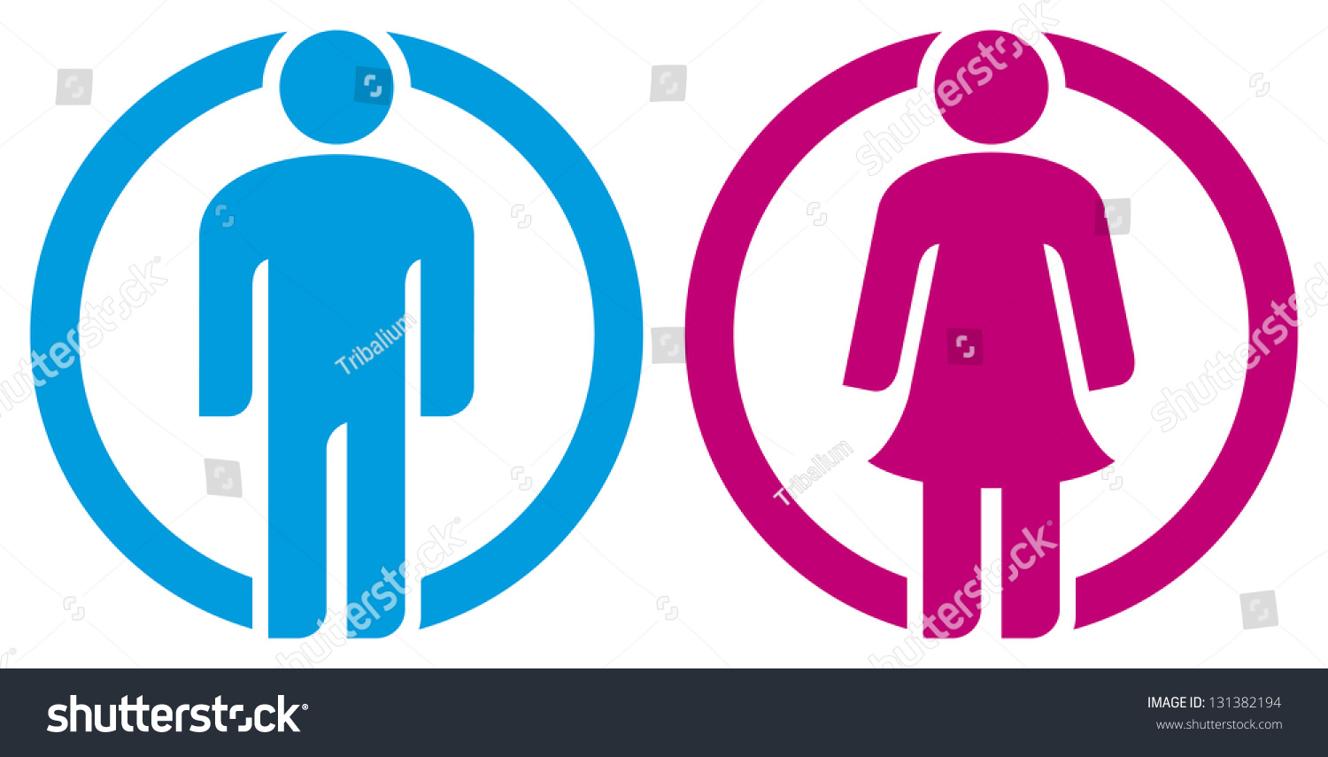Man Woman Restroom Sign Boy Girl Button Wc Icon Toilet Symbol