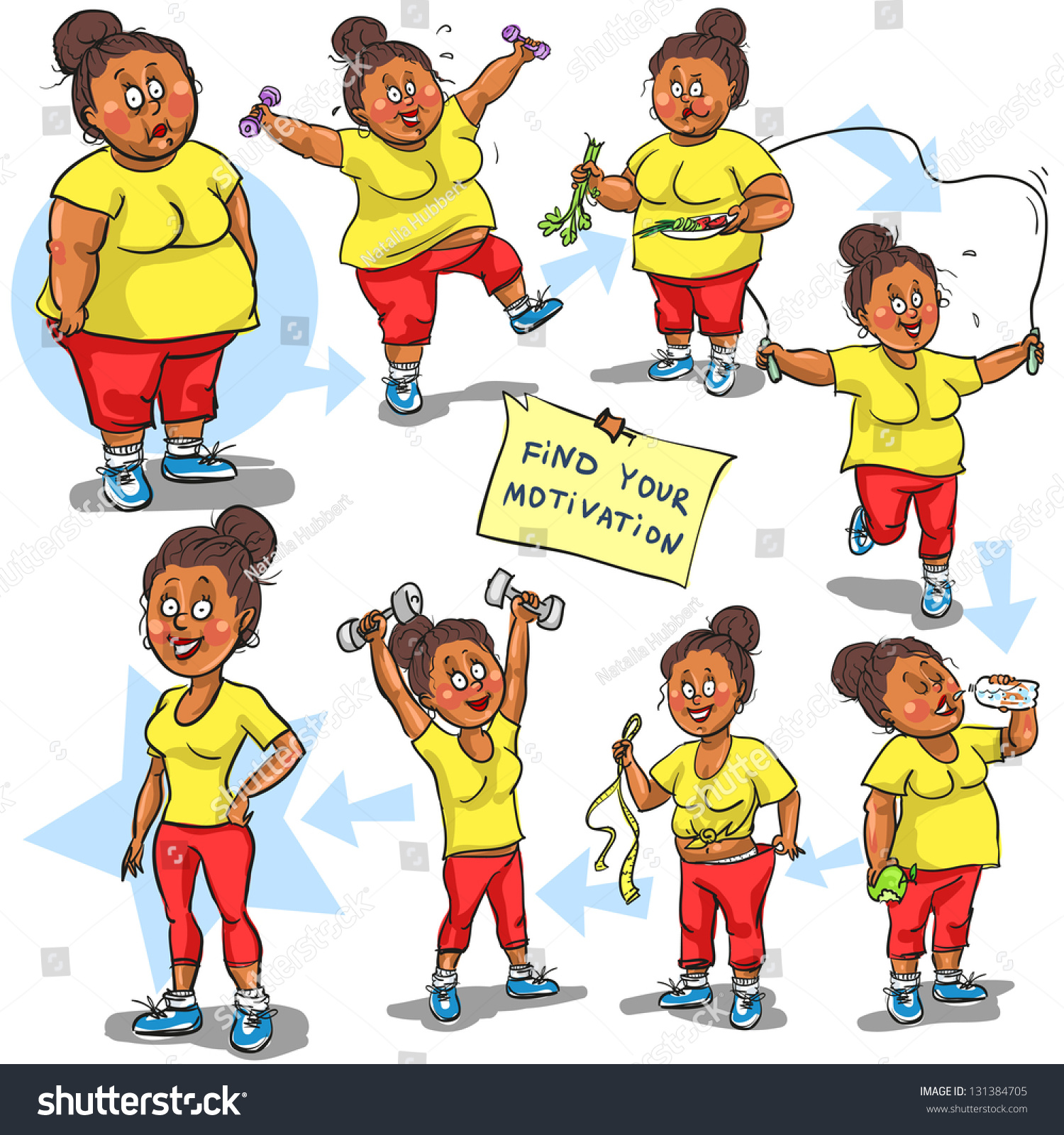 before and after weight loss cartoon