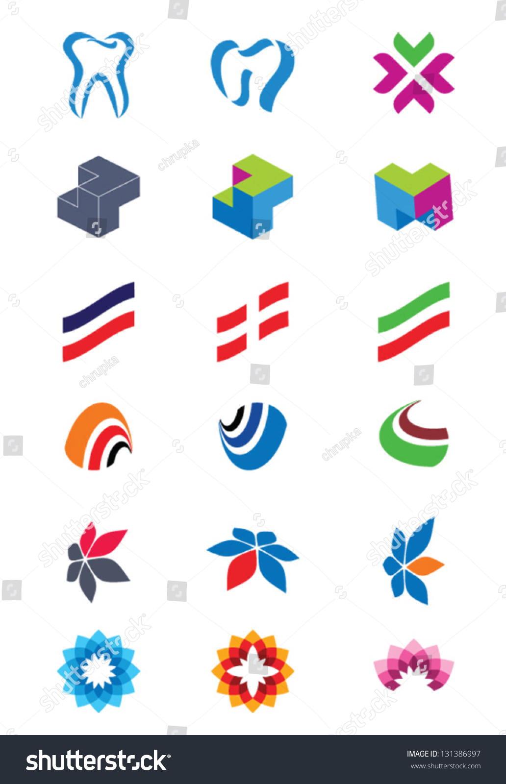 set of abstract logos icons for any type of business vector icons for any type of business vector 131386997 shutterstock