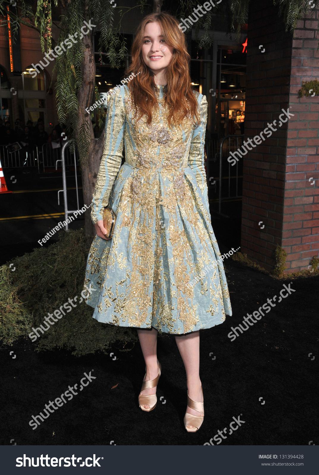 alice englert world premiere her movie stock photo