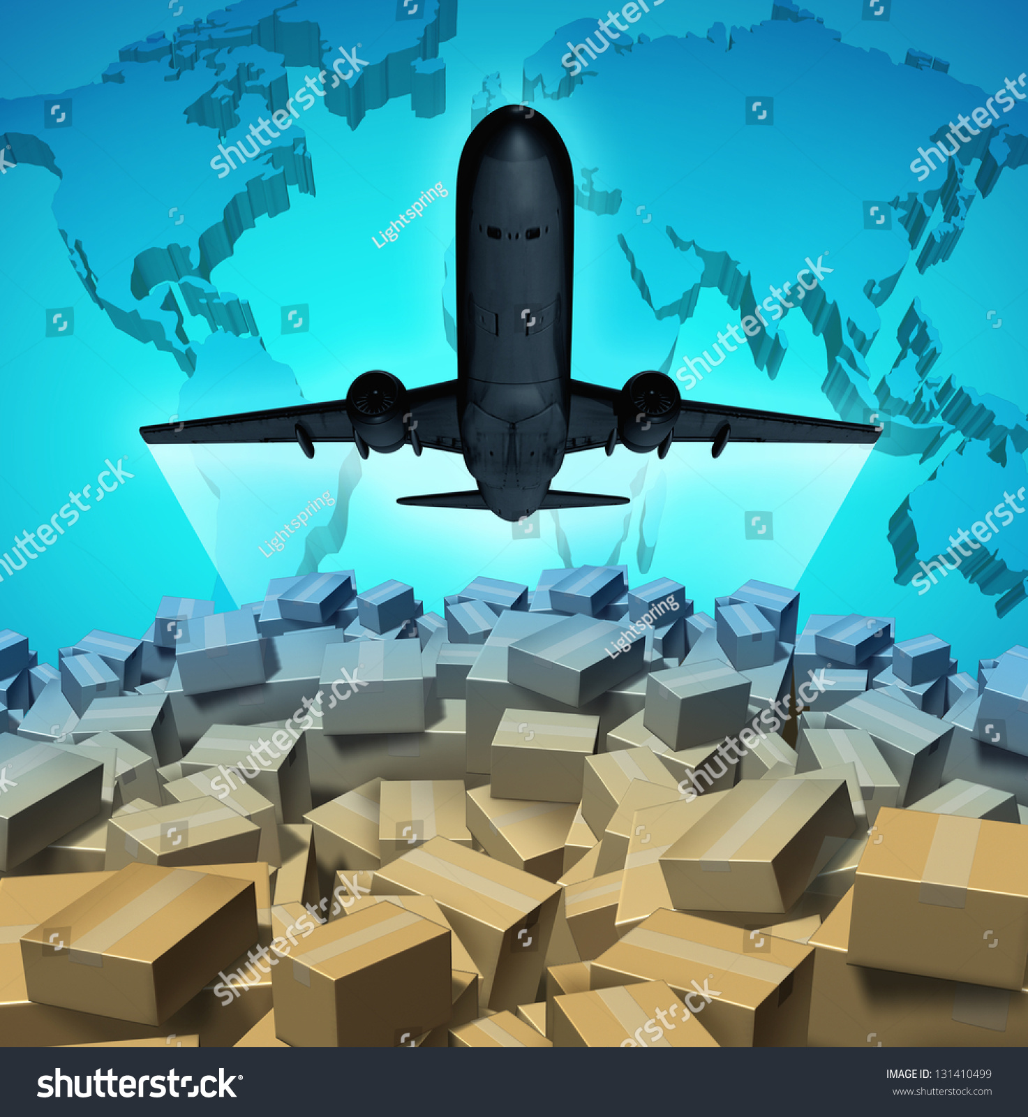 air cargo shipping concept airplane flying stock. Black Bedroom Furniture Sets. Home Design Ideas