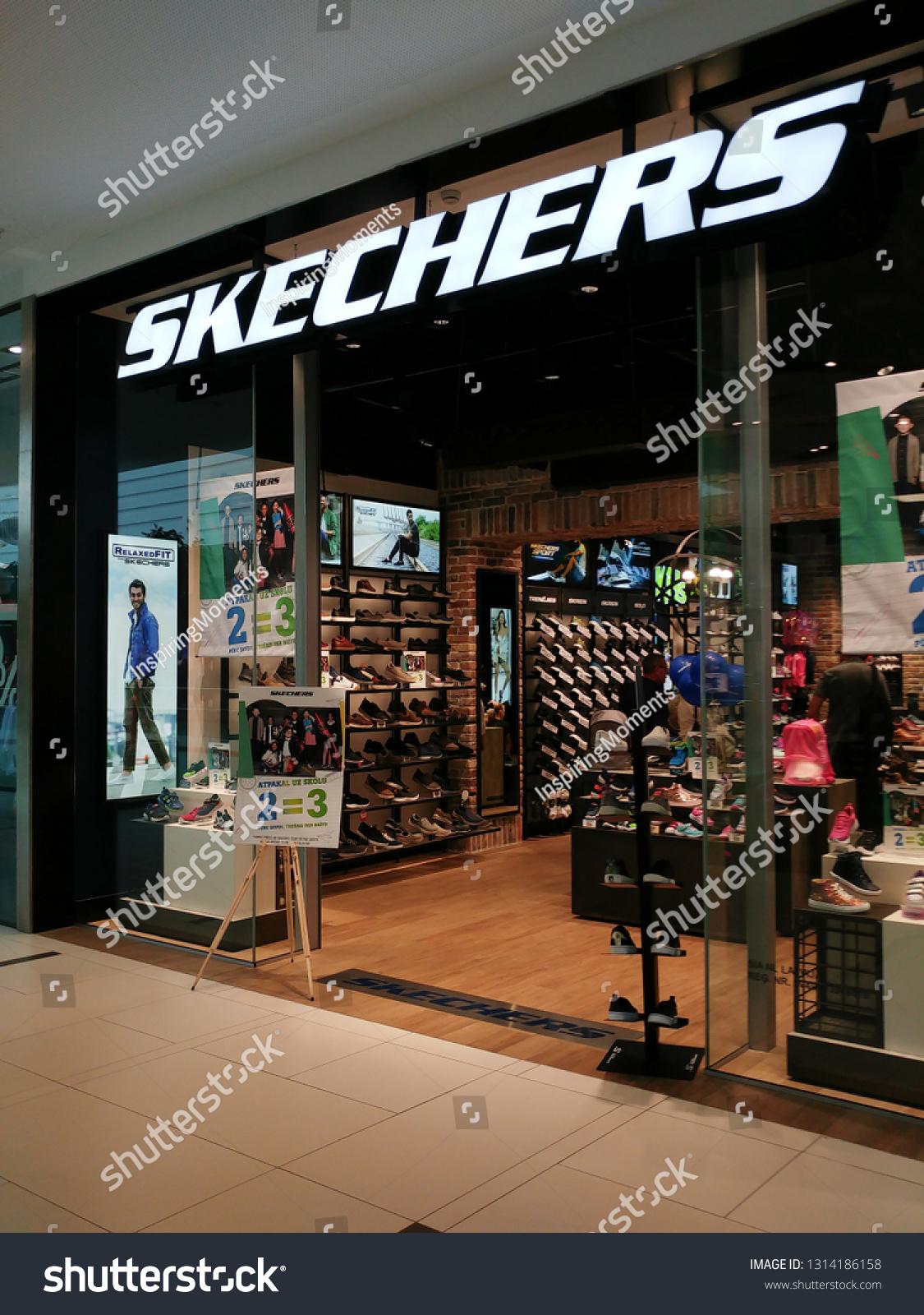 Riga Latvia August 202018 Skechers Shoe