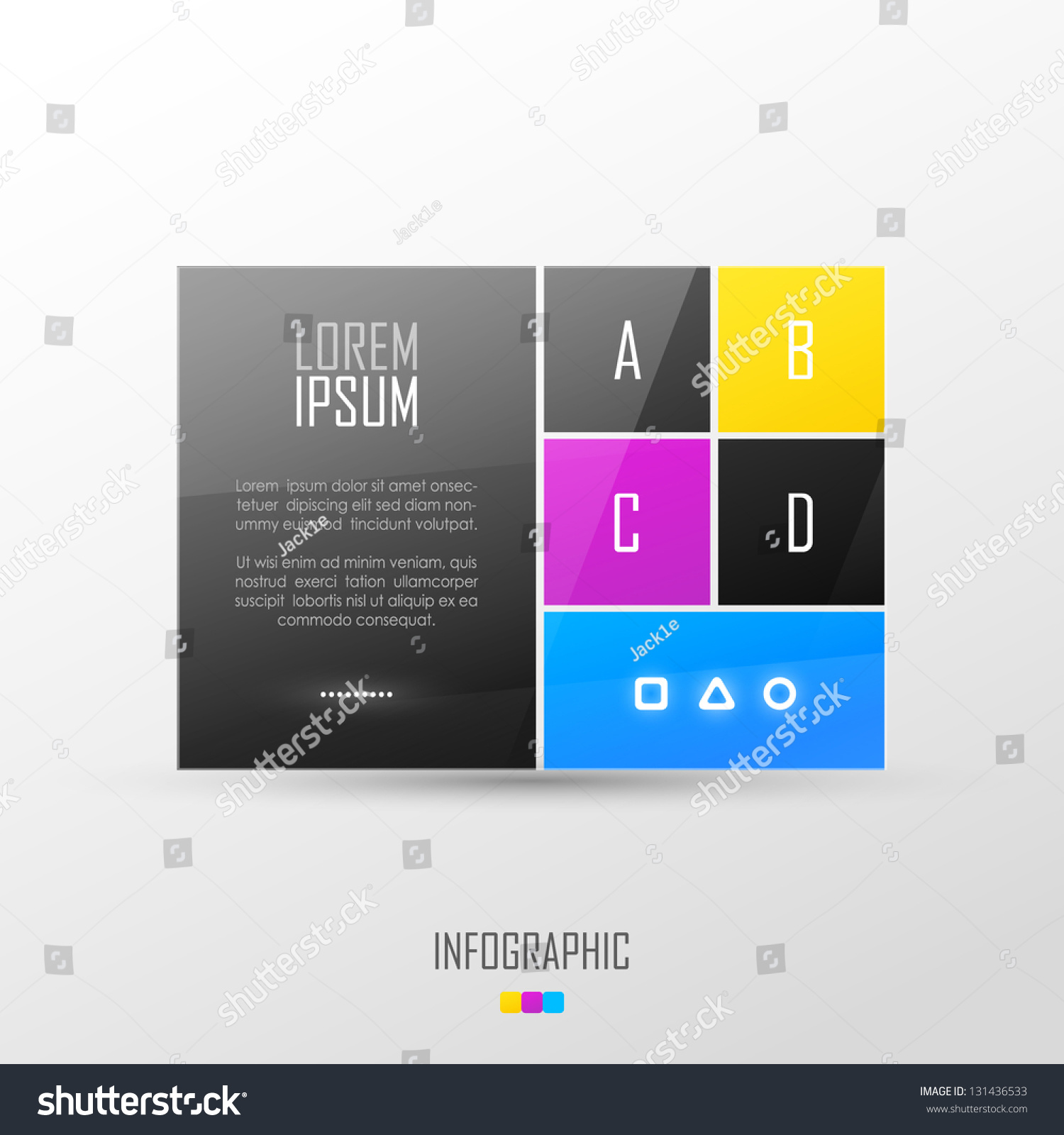 Website Template Design Stock Vector HD (Royalty Free) 131436533 ...