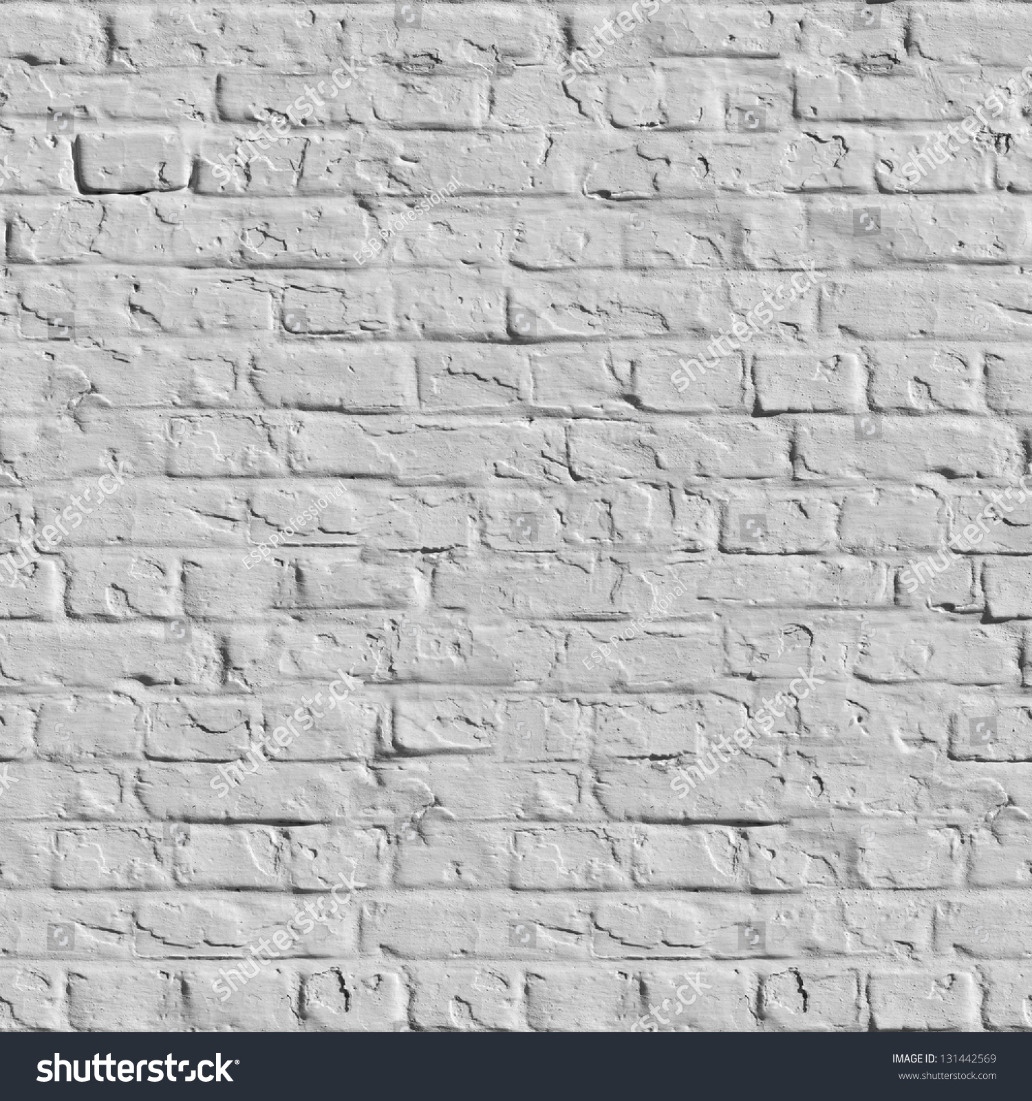 old white brick wall seamless tileable texture stock photo 131442569 shutterstock. Black Bedroom Furniture Sets. Home Design Ideas