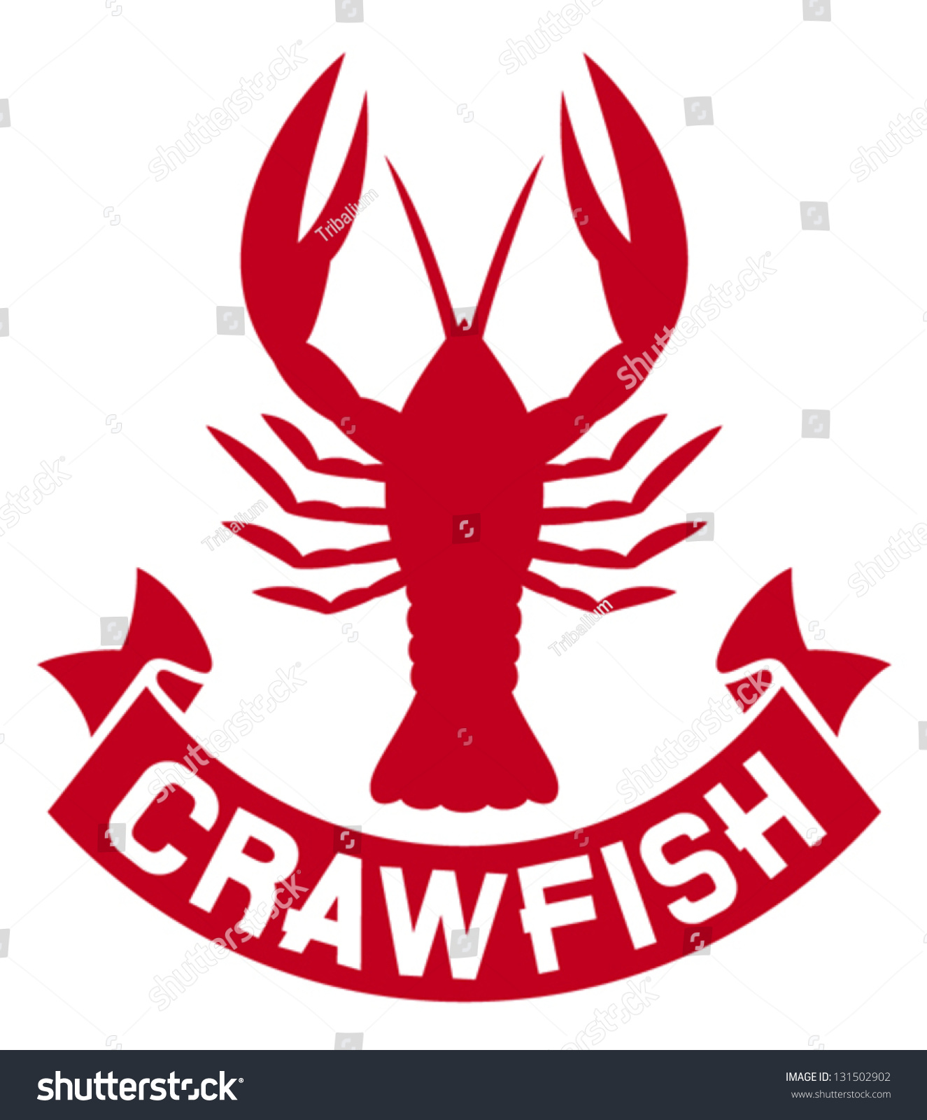 Crawfish Label Crayfish Icon Lobster Sign Stock Vector 131502902 - Shutterstock