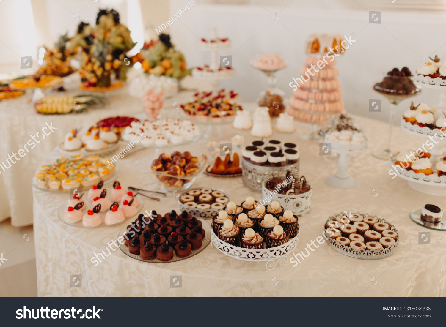 Candy Bar Table Different Sweets Party Stock Photo Edit Now 1315034336