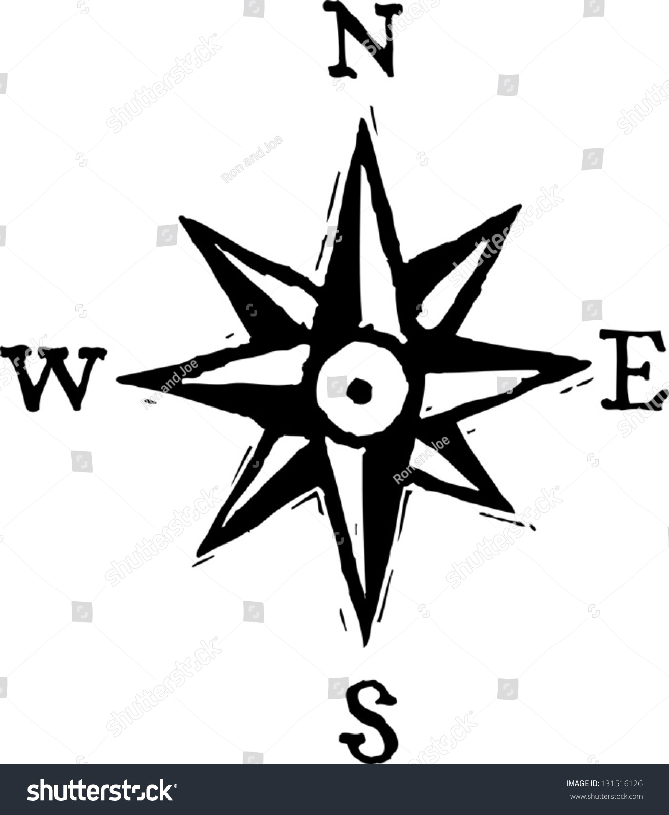 Black white vector illustration north west stock vector 131516126 black and white vector illustration of north west south east directions biocorpaavc Image collections
