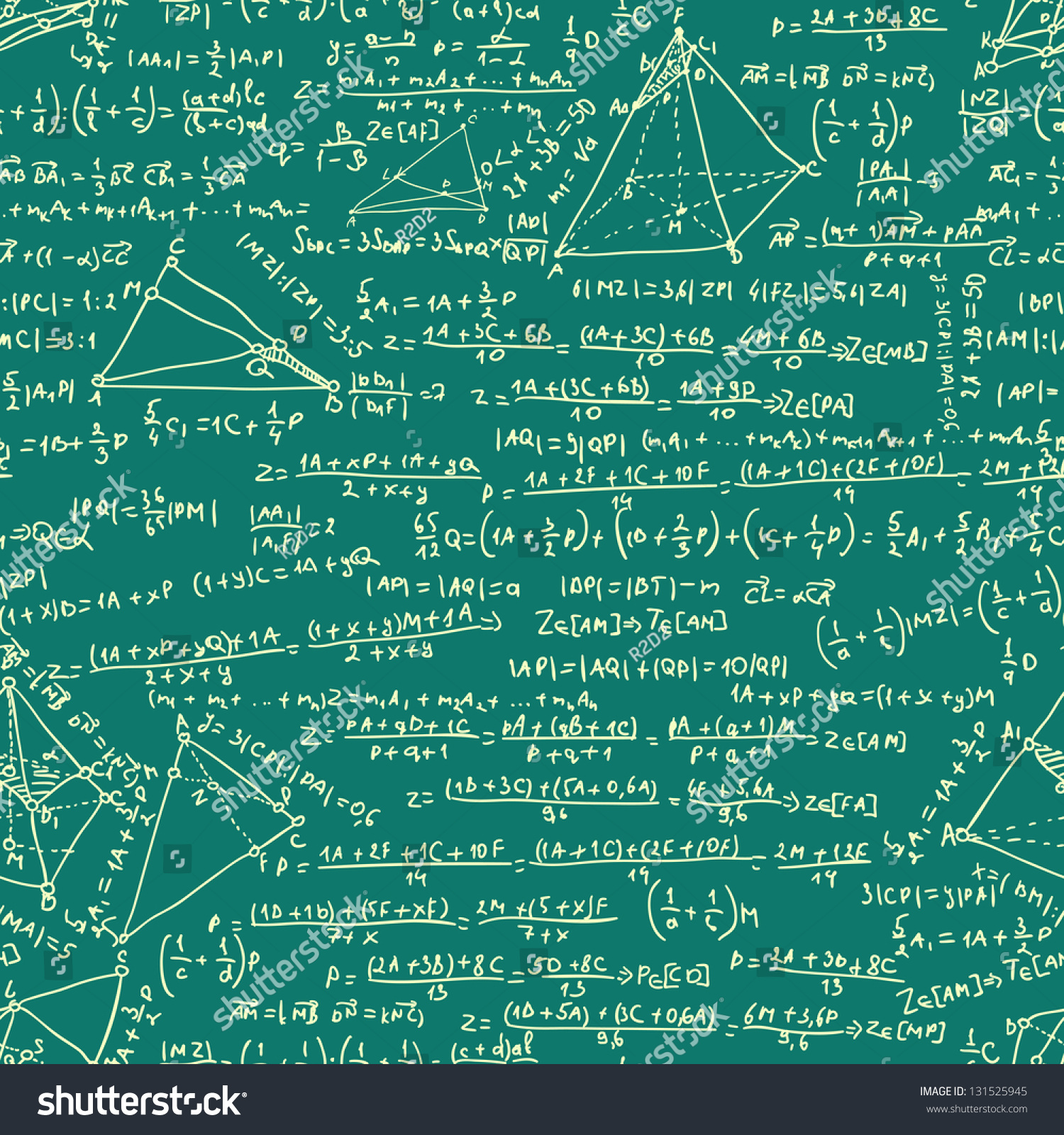 Maths Seamless Pattern Includes EPS 8 Stock Vector (Royalty Free ...