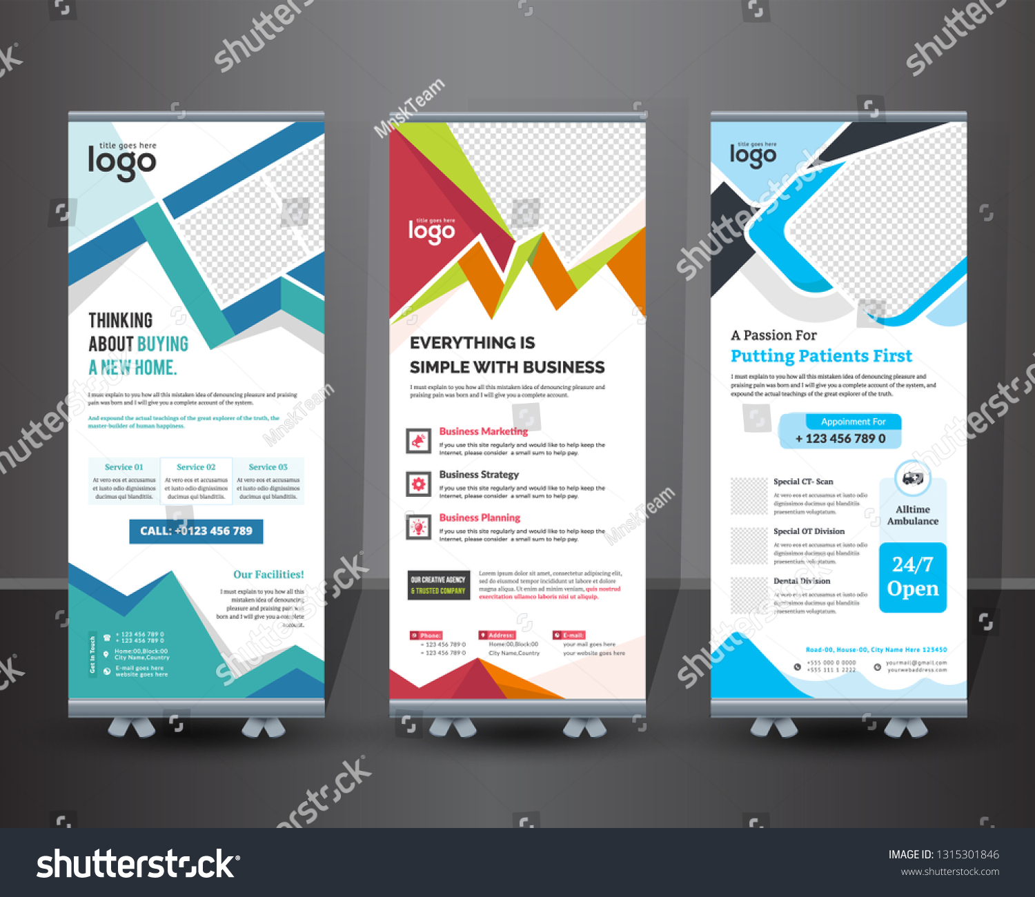Creative Rollup Banner Design Business Concept Stock Vector Royalty Free 1315301846